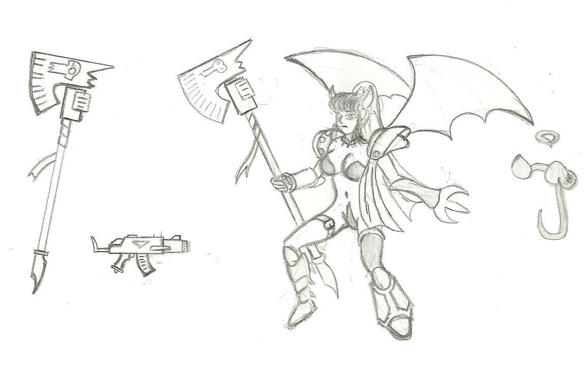 Mutant princess sketch