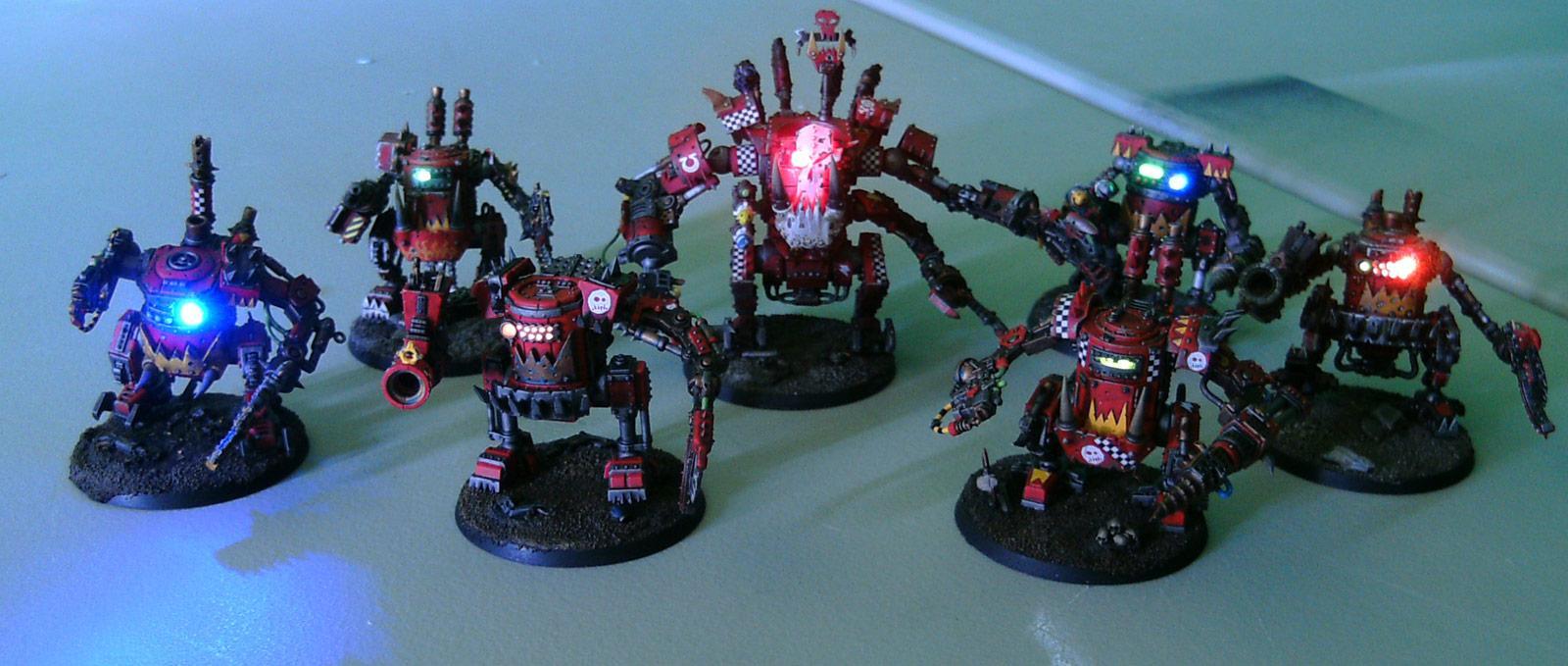 Killa Kans, LED, Lights, Orks, Ouze, Walker, Warhammer 40,000