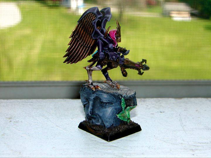 Custom Base, Dark Eldar, Scourge, Warhammer 40,000