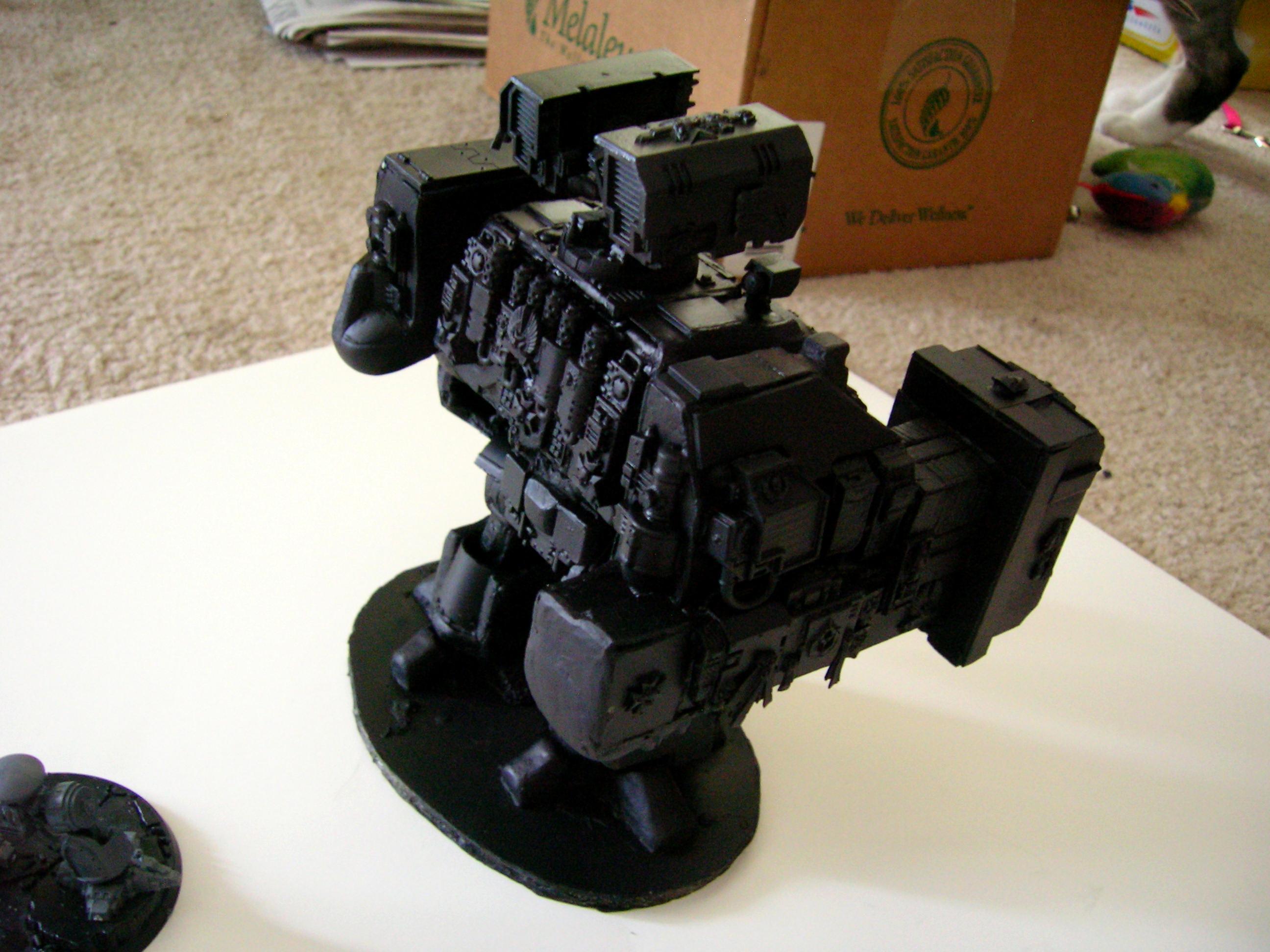 Conversion, Dreadnought, Mega Dredd, Scratch Build, Space Marines, Super-heavy