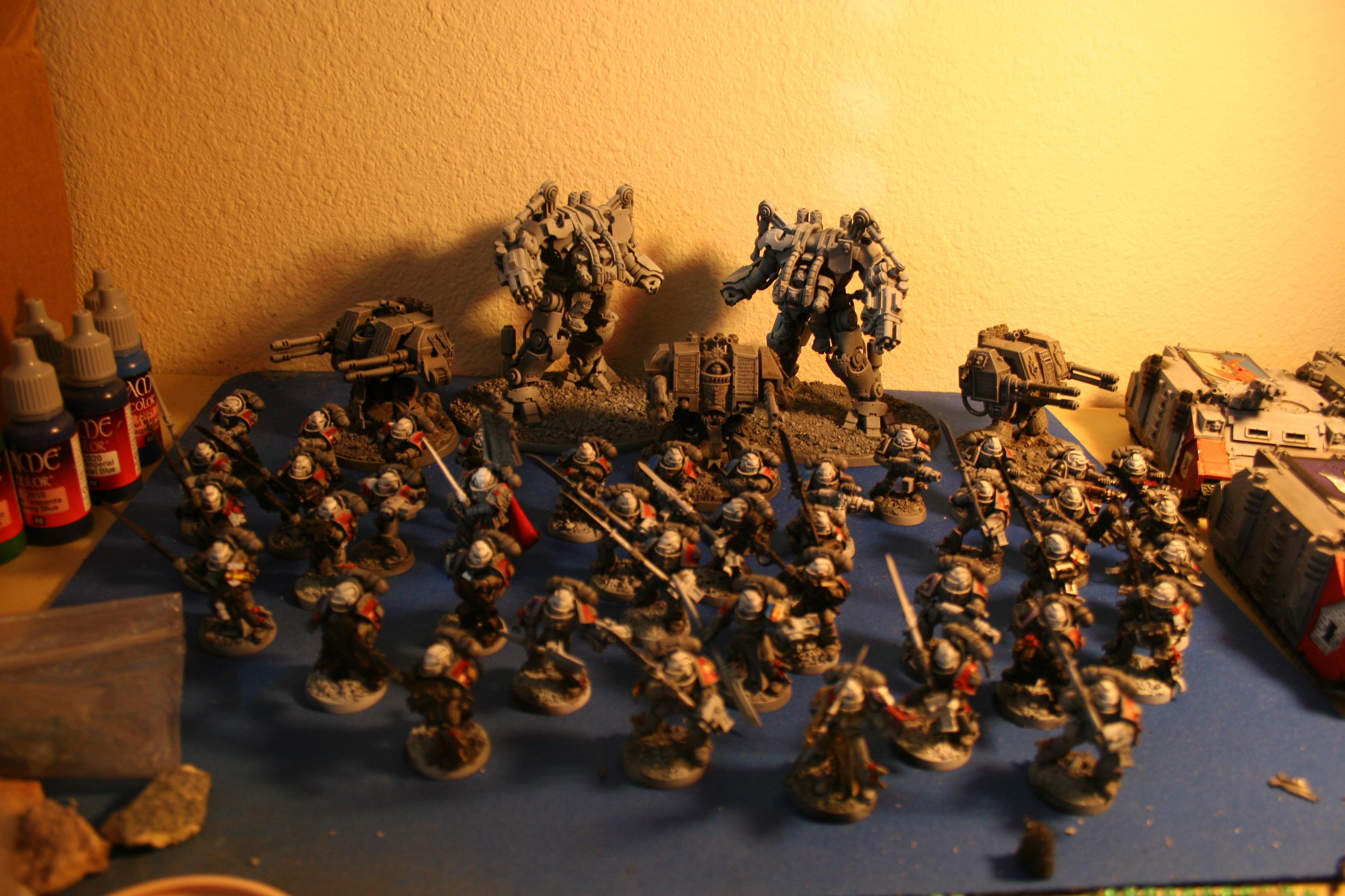 Castellan, Crowe, Dreadknight, Drybrush, Grey, Grey Knights, Nemesis, Purifier