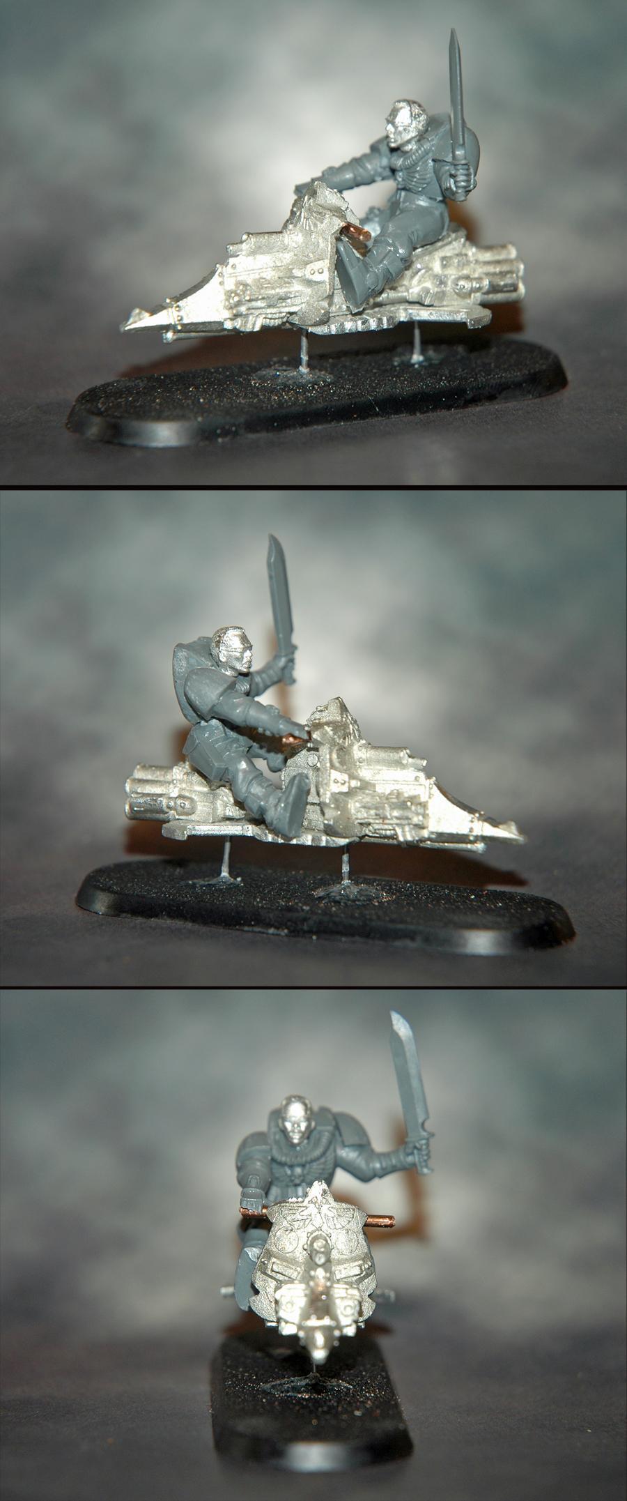 Mantis Warriors, Scout Bike, Sergeant, Space Marines, Warhammer 40,000