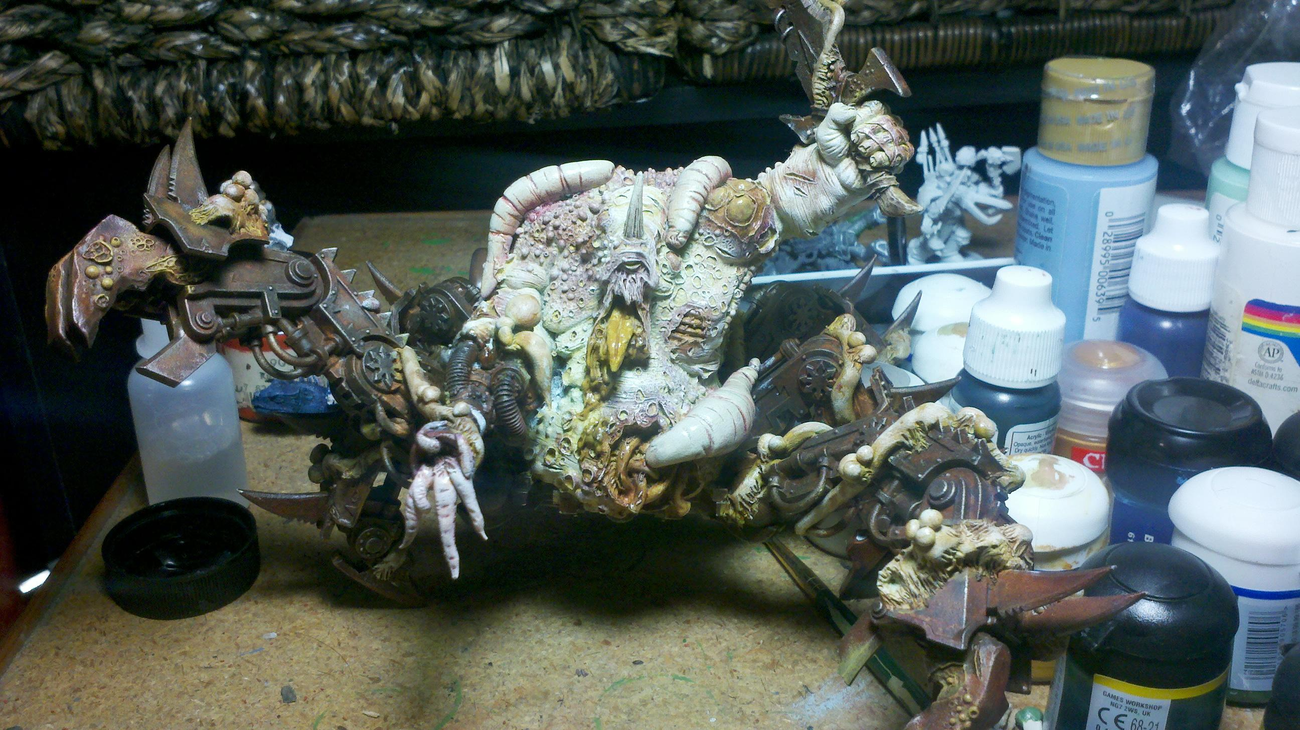 Nurgle Chaos Conversions Daemon Prince Soul Grinder Plague Hulk Forge World