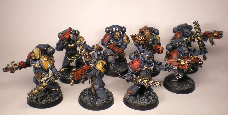 Astartes, Battle Damage, Commission, Conversion, Freehand, Games Workshop, Snow, Space Marines, Space Wolves, Warhammer 40,000