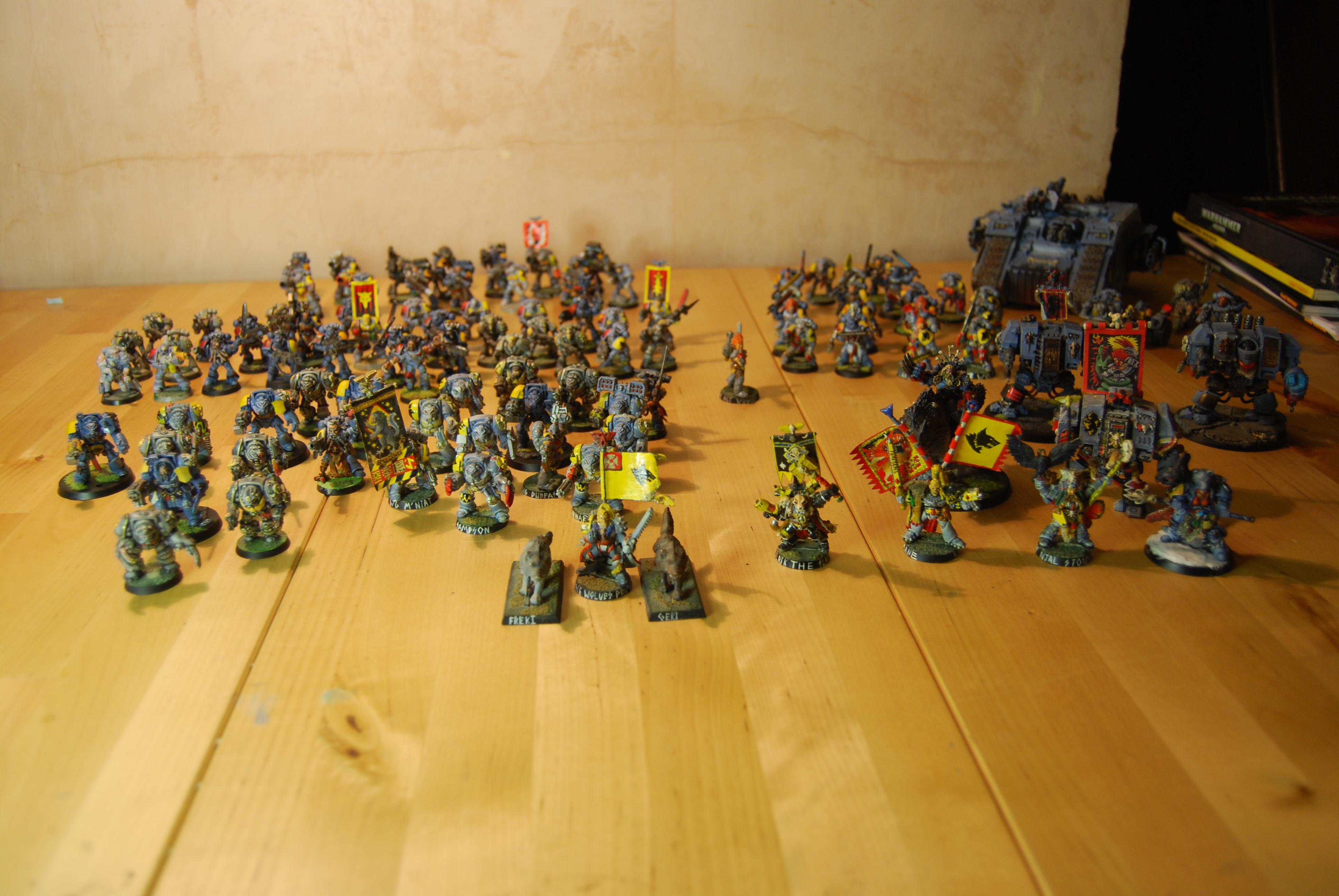 Space Wolves Army, My army (3600+) so far and growing!!!!