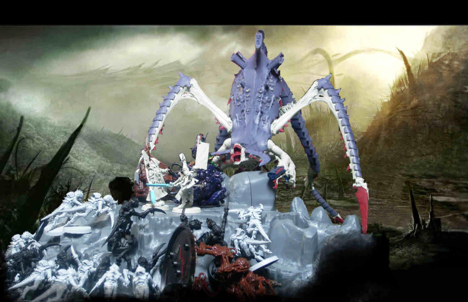 Aspect, Aspect Warrior, Conversion, Eldar, Genestealer, Hierophant, Karandras, Khaine, Leviathan, Phoenix, Predator, Scorpion, Shadows, Striking Scorpions, Swarm, Symbiont, Tyranids, W40k, Warhammer 40,000, Warriors