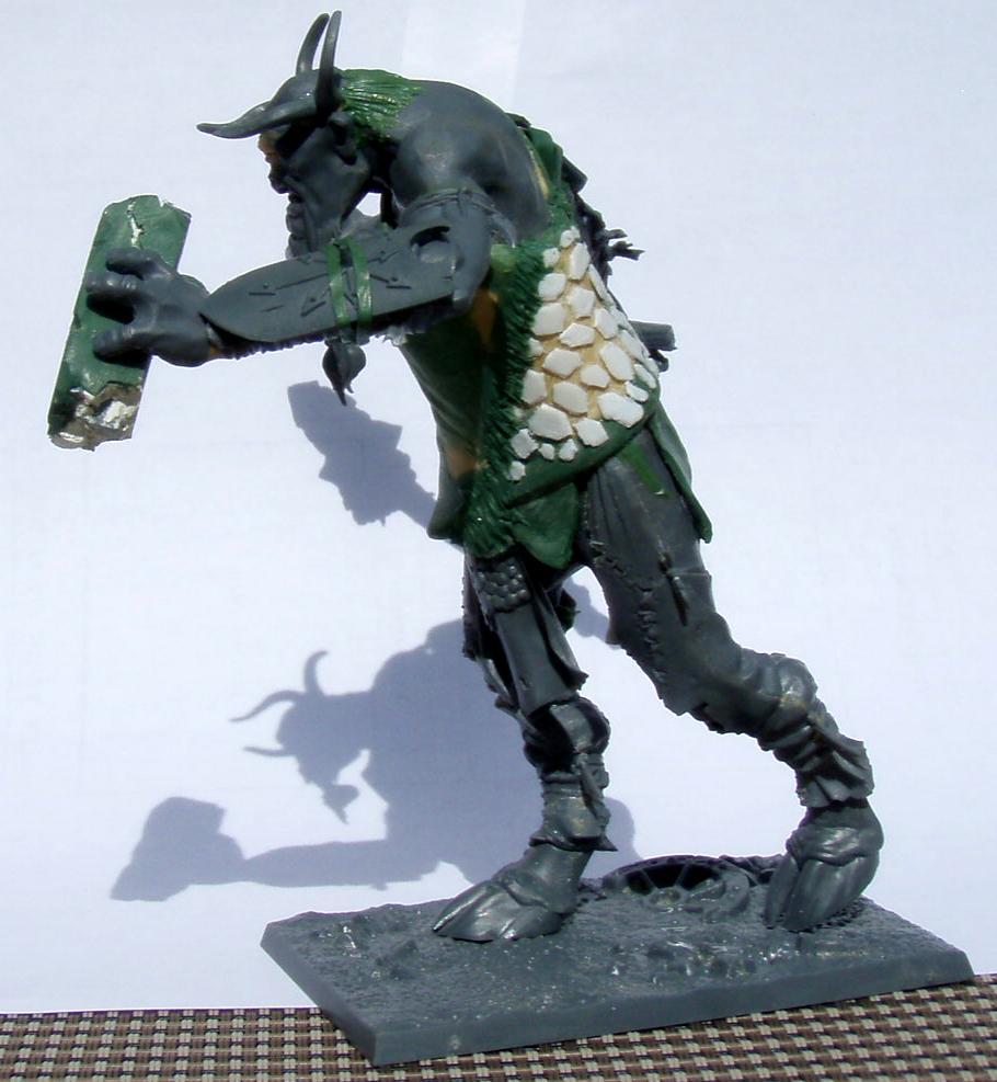Beastmen, Beasts Of Chaos, Conversion, Cyclops, Cygor, Giant, Greenstuff, Warhammer Fantasy, Work In Progress