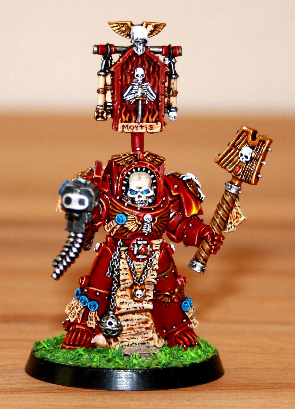 Chaplain, Red Hunters, Space Marines, Terminator Armor