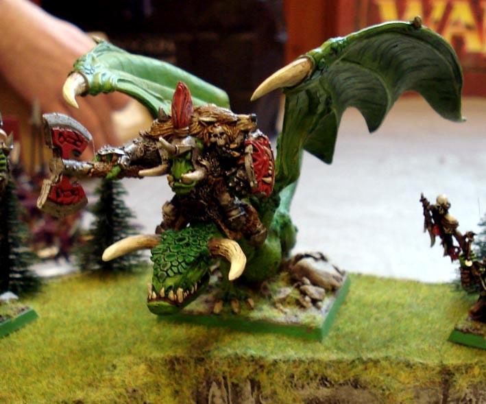 Monster, Orcs, Warboss, Warhammer Fantasy, Wyvern
