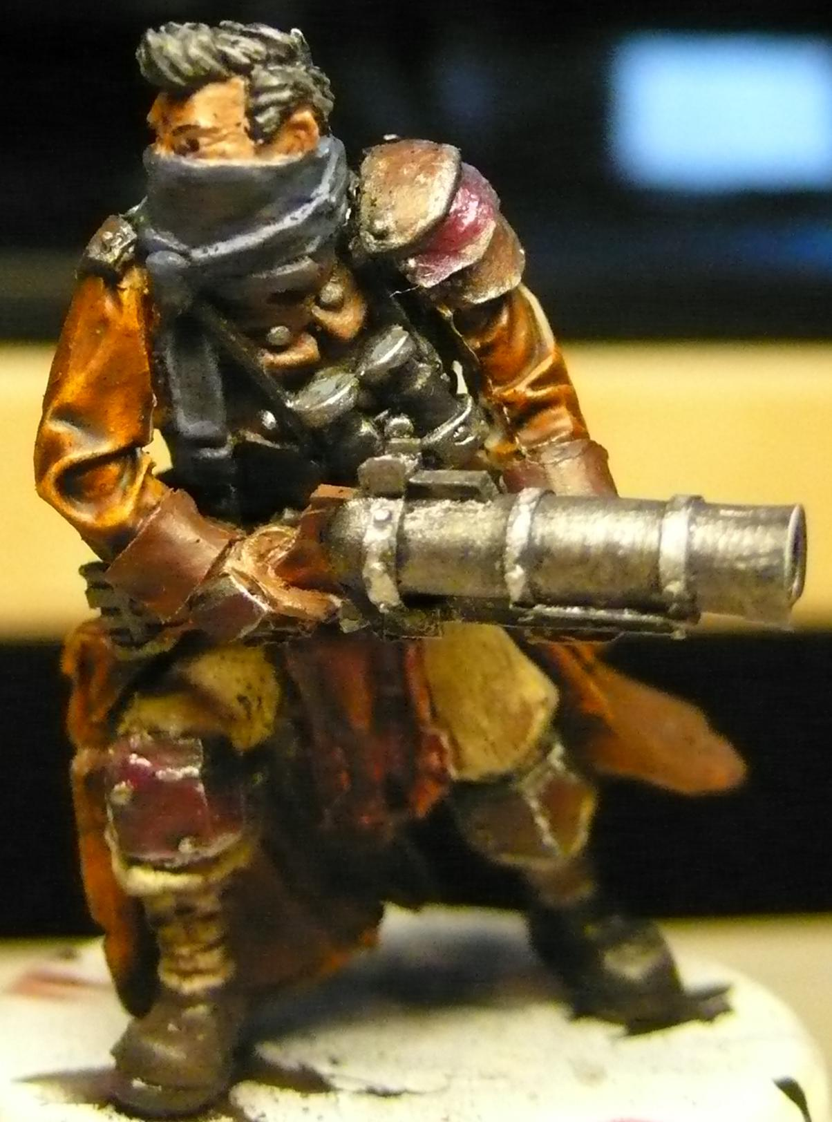 Grenade Launcher, Jacket, Necromunda, Privateer Press, Trenchcoat