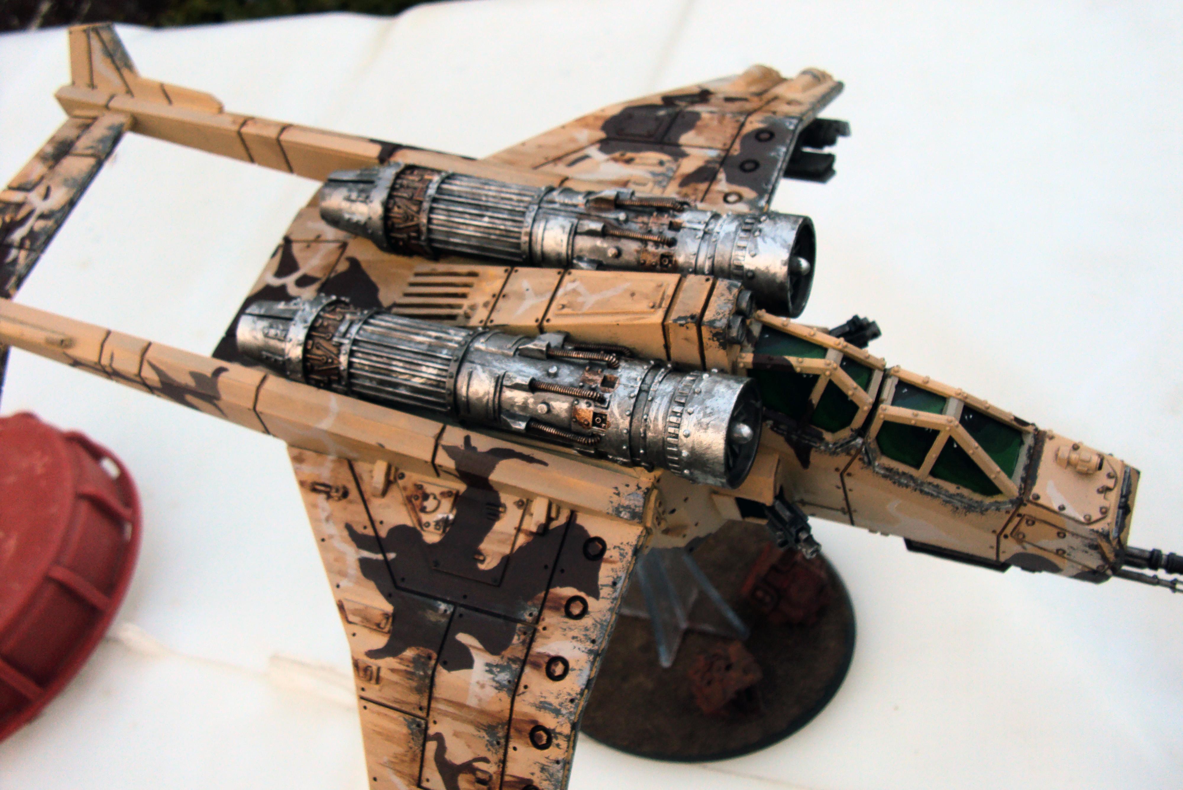 Desert Camo, Elysians, Imperial Guard, Valkyrie, Warhammer 40,000