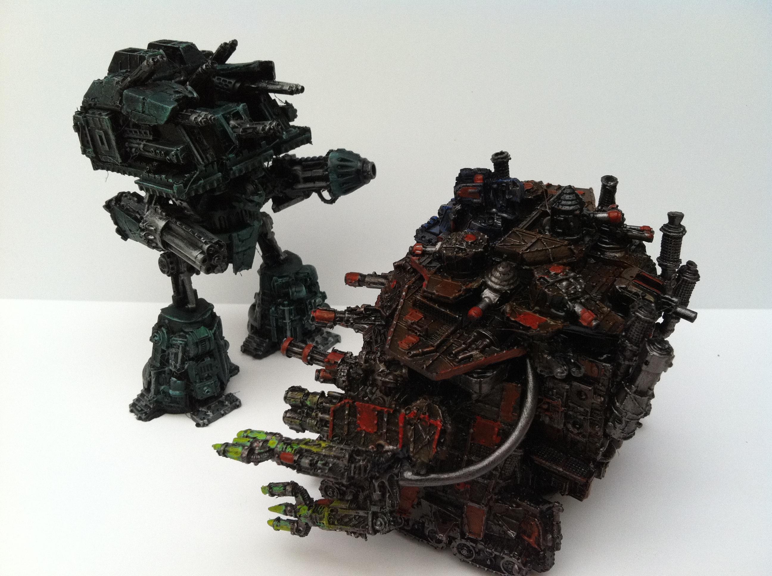 Conversion, Emperor Titan, Huge, Ork Mega Gargant Epic Custom