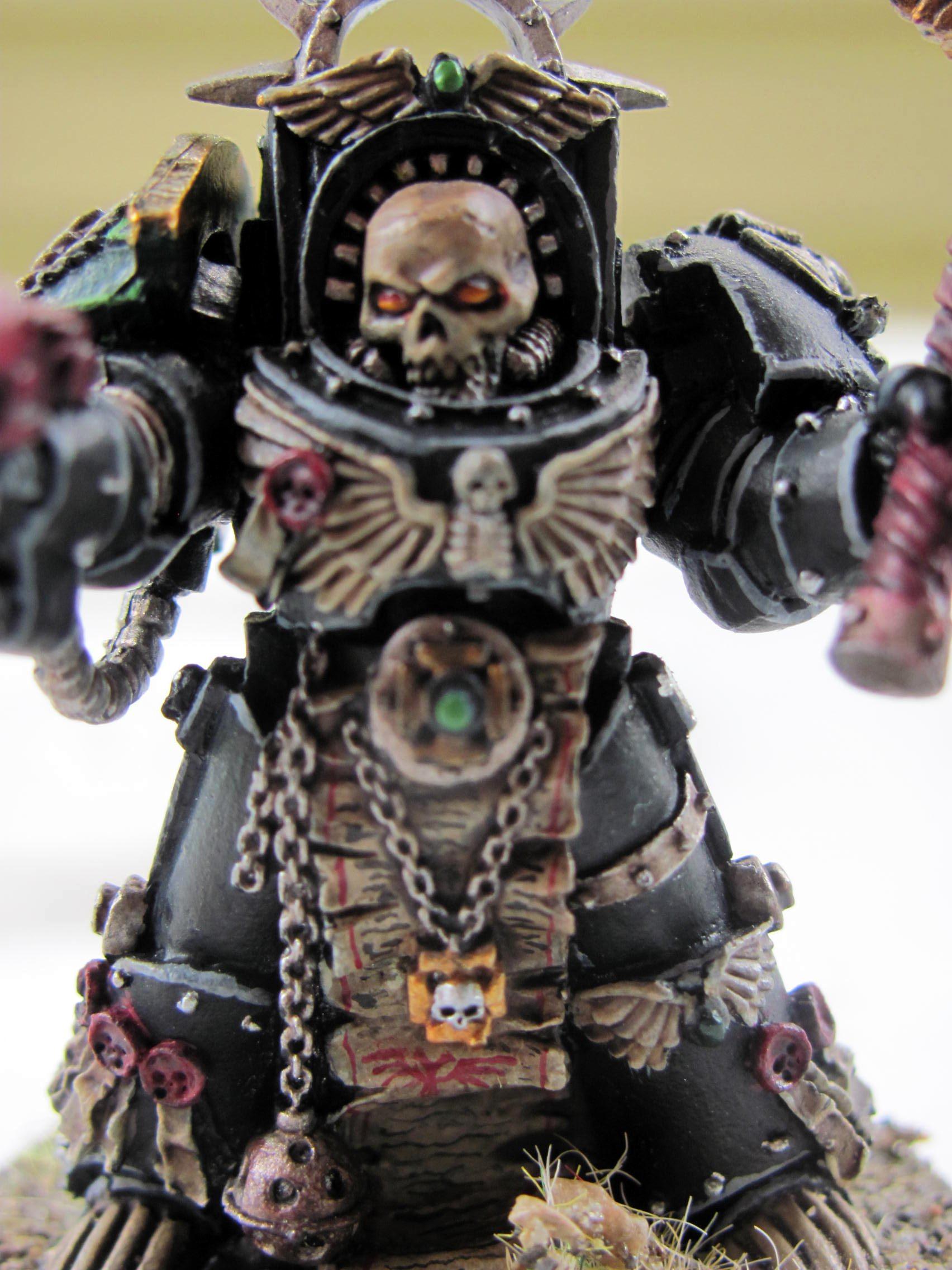 Chaplain, Dark Angels, Eye Lens, Skeletons, Terminator Armor
