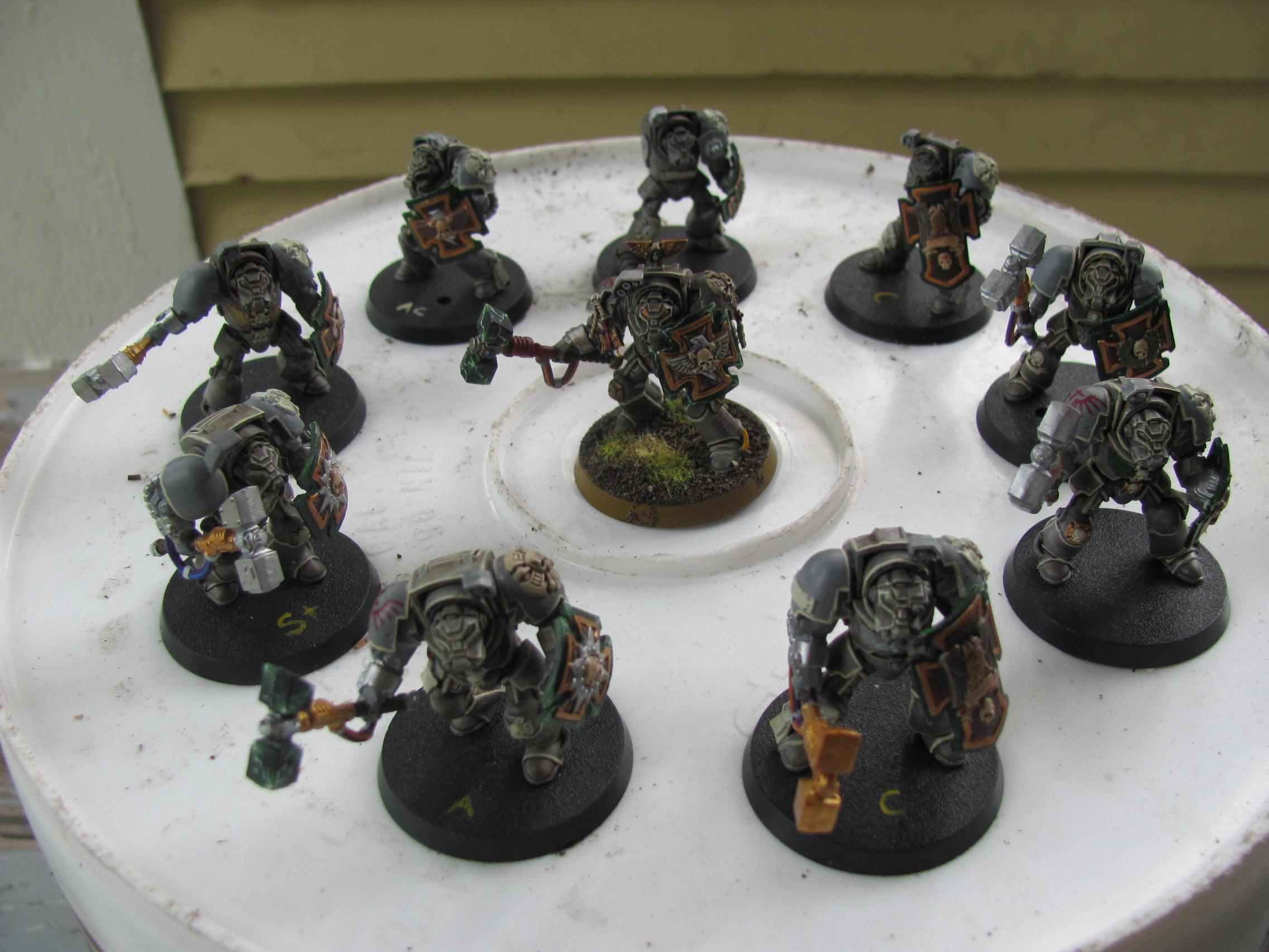Dark Angels, Deathwing, Lightning Claw, Terminator Armor, Thunder Hammer