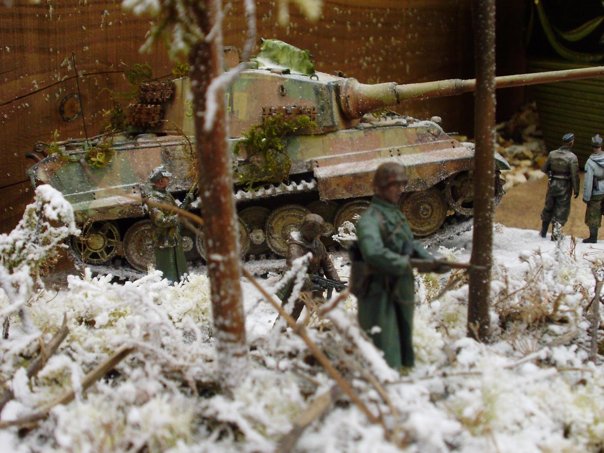 Diorama, Germans, Heavy Support, Historical, Snow, Super-heavy, Tank, Tiger, Winter, World War 2