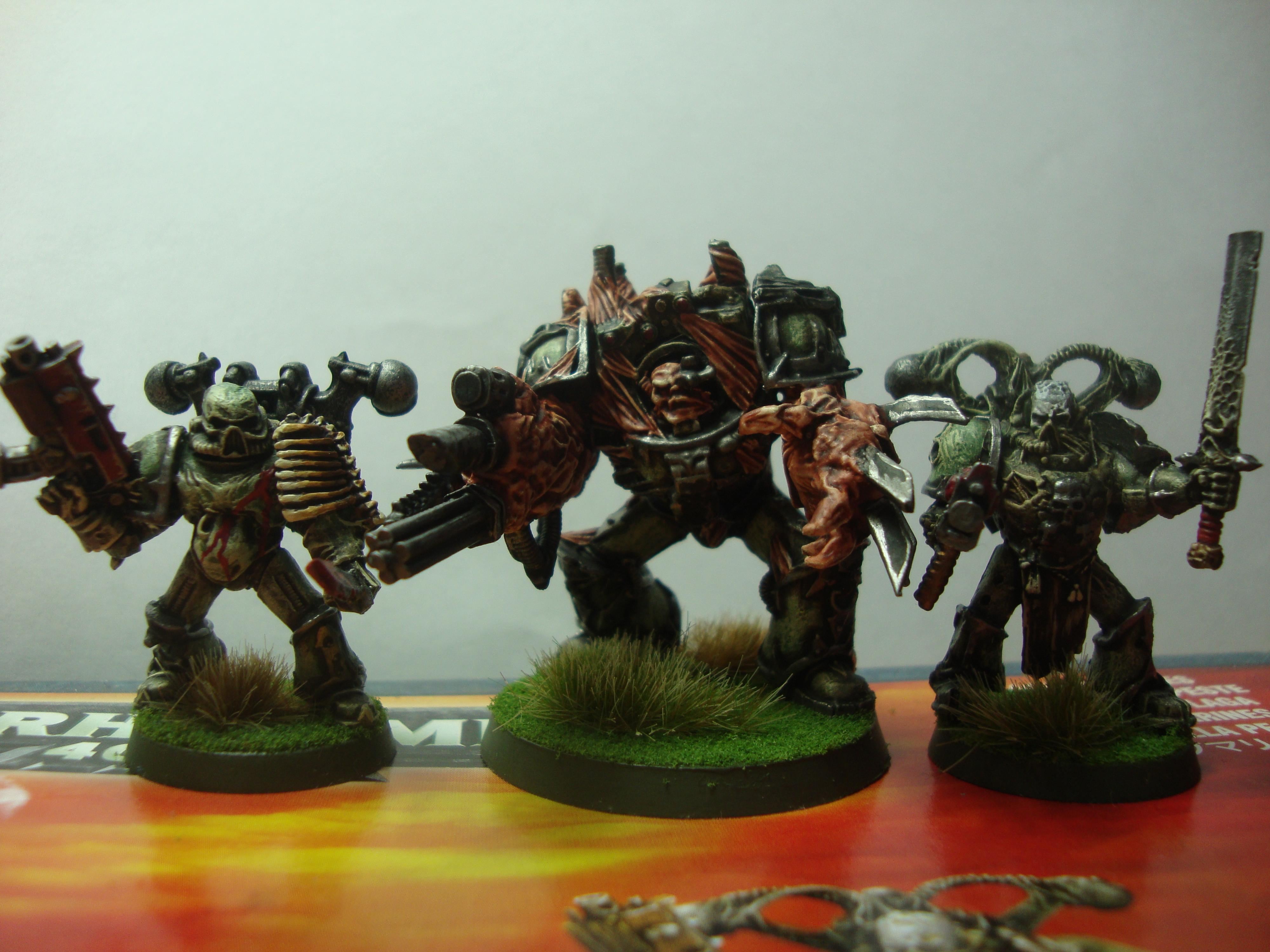 7, Chaos, Chaos Space Marines, Nurgle, Obliterators, Pleague Marine, Space Marines