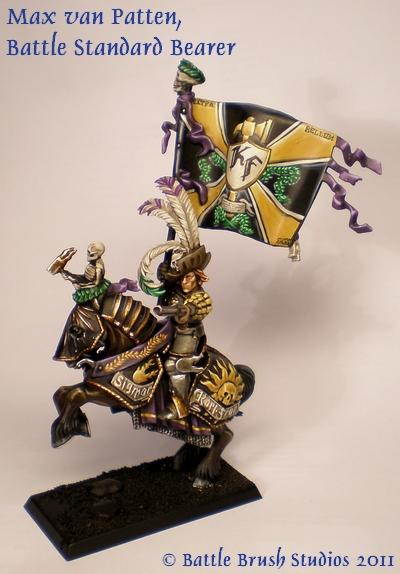 Averland, Banner, Character, Commission, Conversion, Empire, General, Standard, Standard Bearer, Warhammer Fantasy
