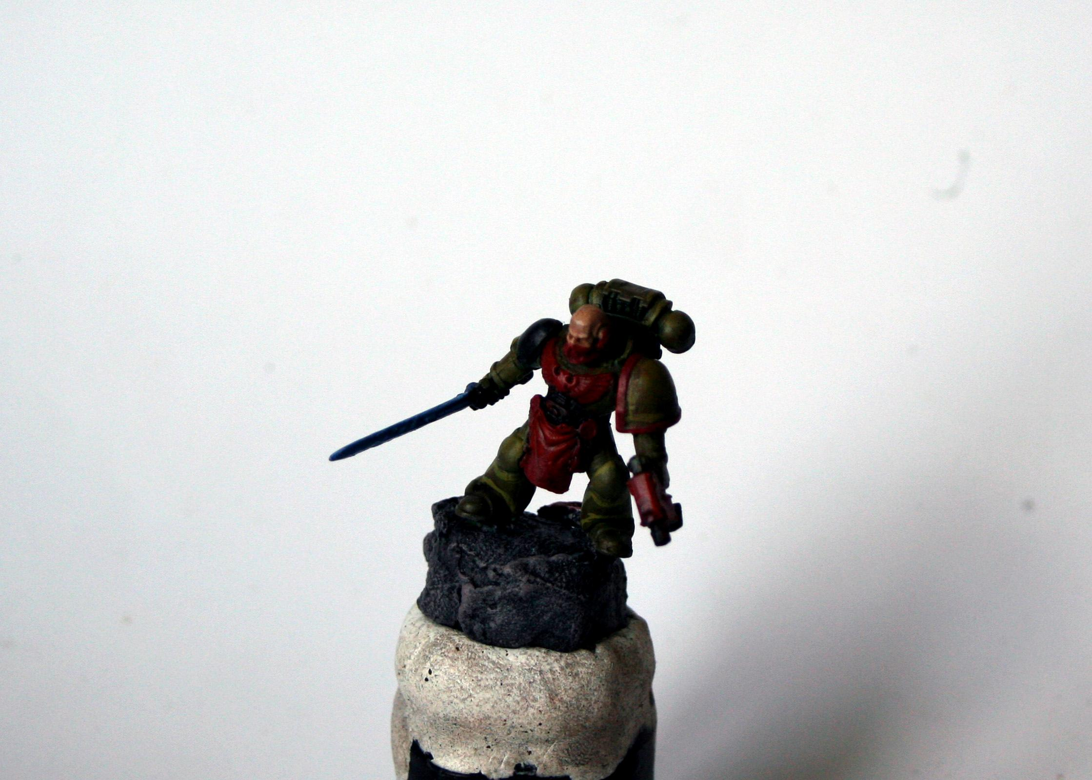 Captain, Power Sword, Space Marines, Warhammer 40,000, Work In Progress