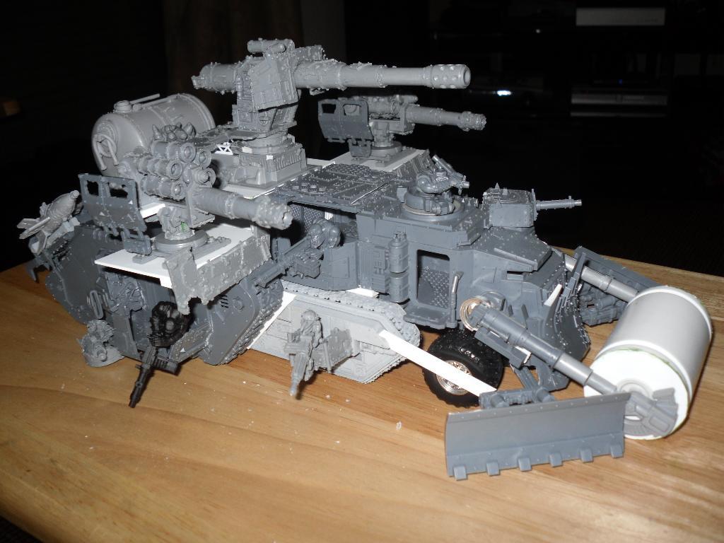 Battle Fortress, Battlewagon, Conversion, Land Raider, Marine Abuse, Orks, Super-heavy, Work In Progress