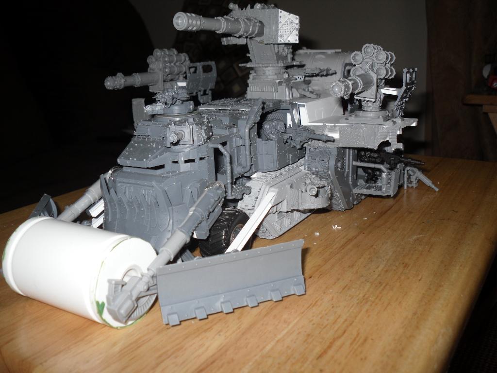 Battle Fortress, Battlewagon, Conversion, Orks, Super-heavy, Work In Progress