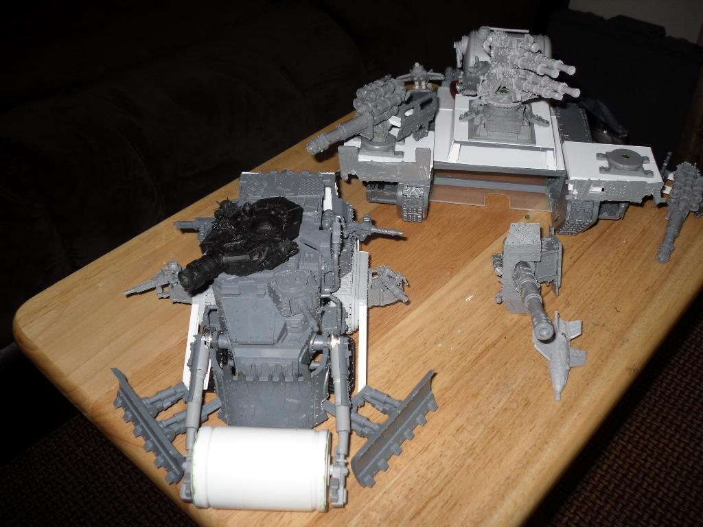 Battle Fortress, Battlewagon, Chimera, Conversion, Land Raider, Looted, Marine Abuse, Orks, Super-heavy, Work In Progress