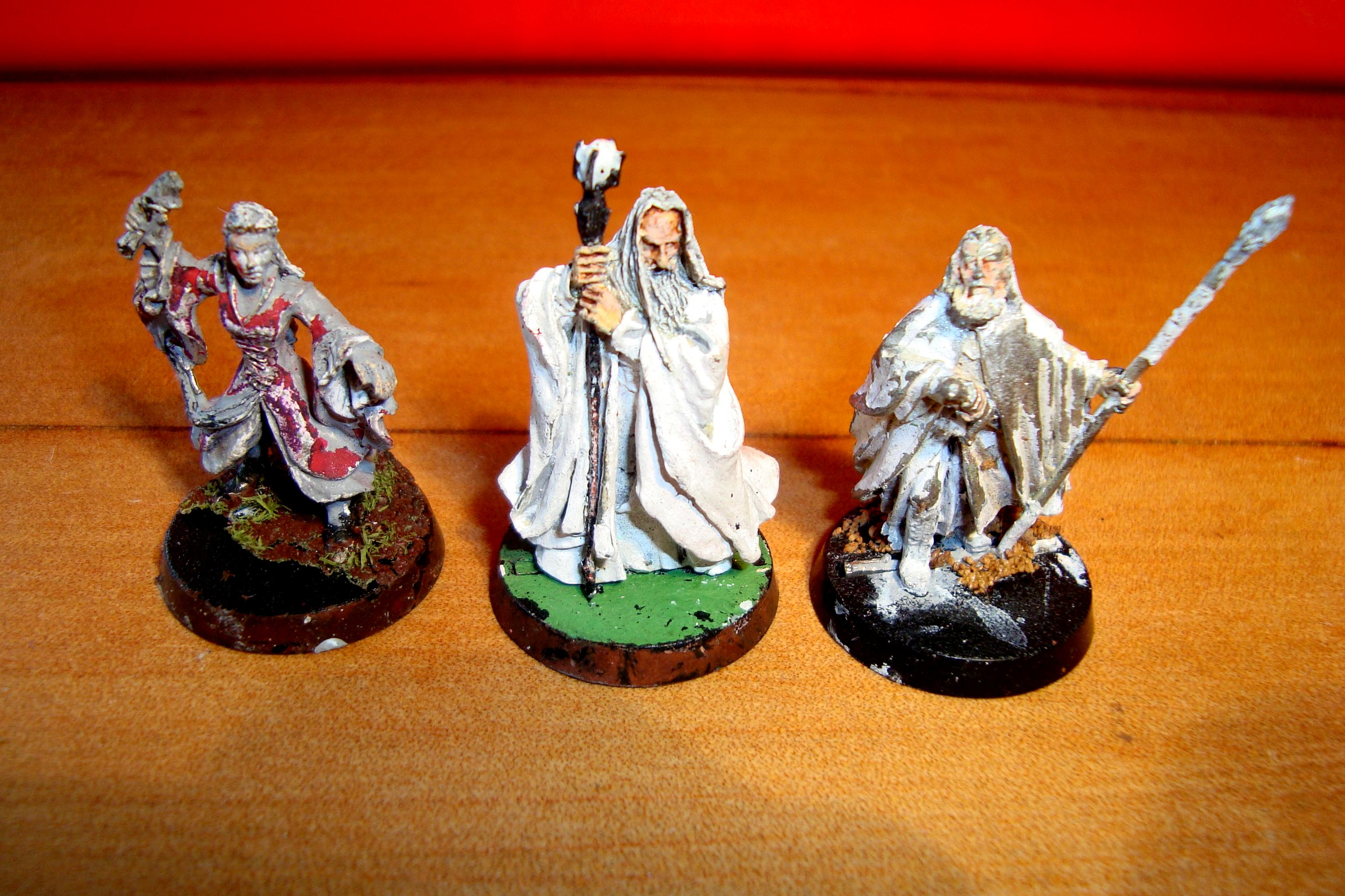 Gandalf, Sauramon and possibly Arwin (broken sword)