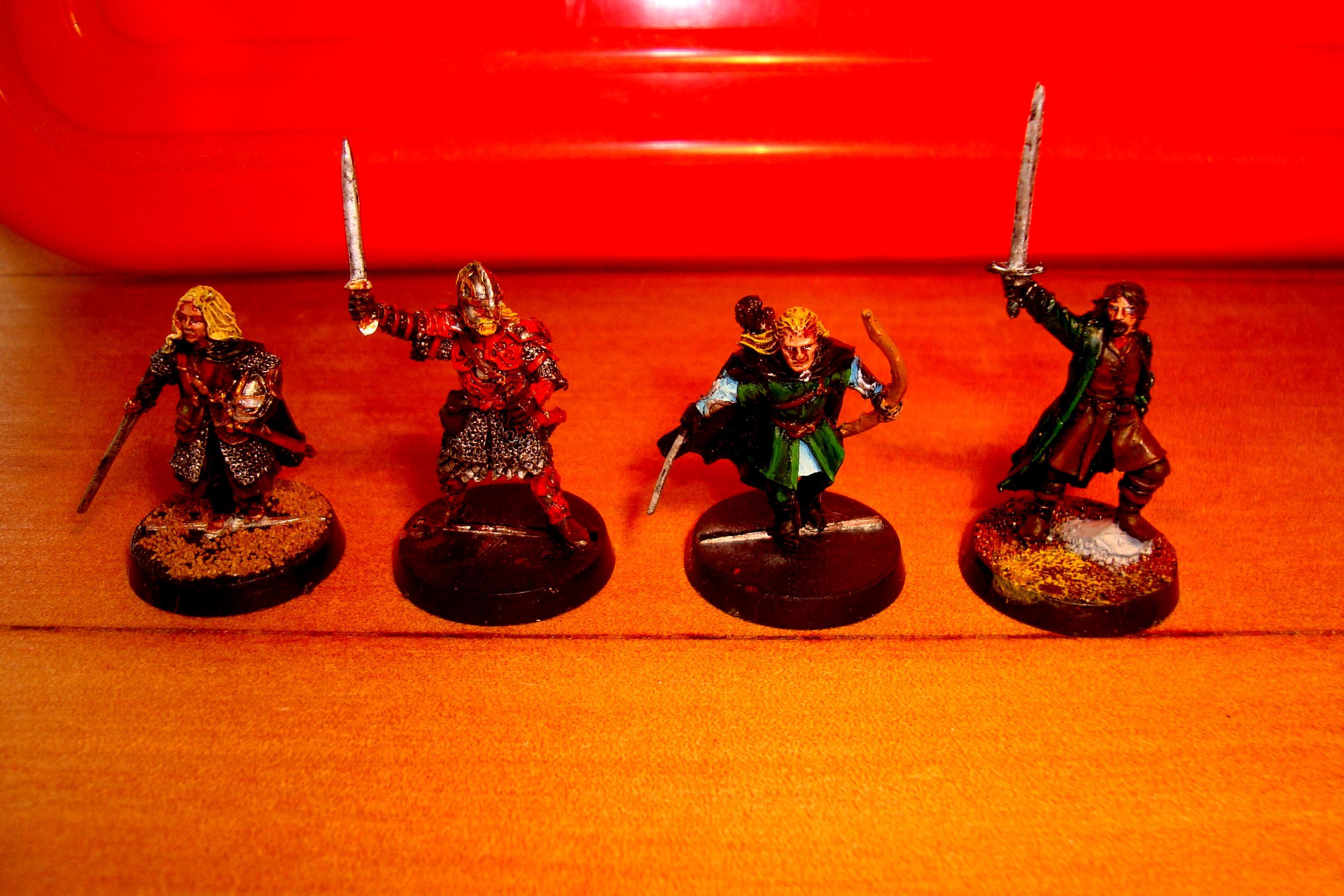 Aragorn, Legolas, Eomer and Eowyn