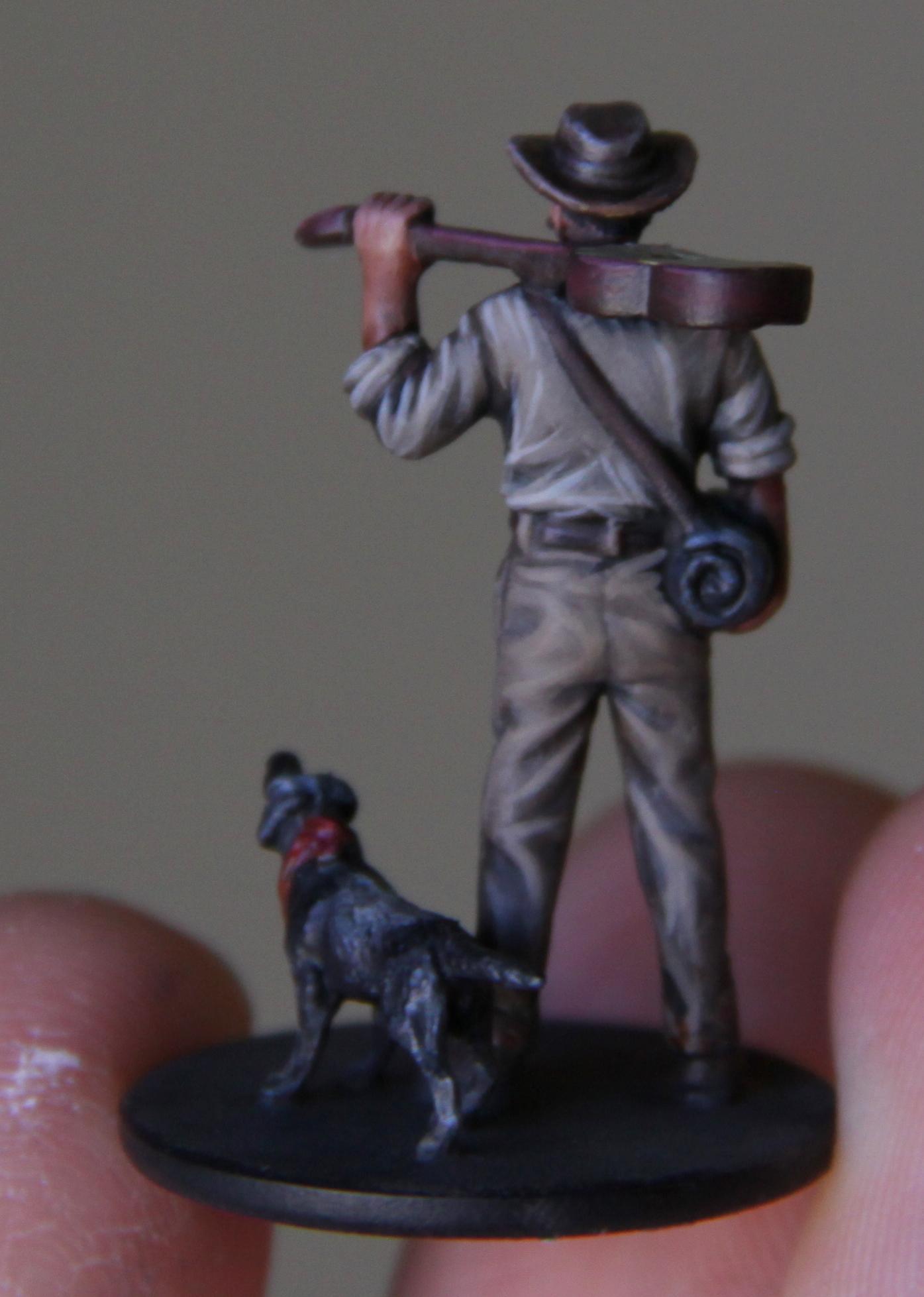 Cowboy, Dog, Guitar