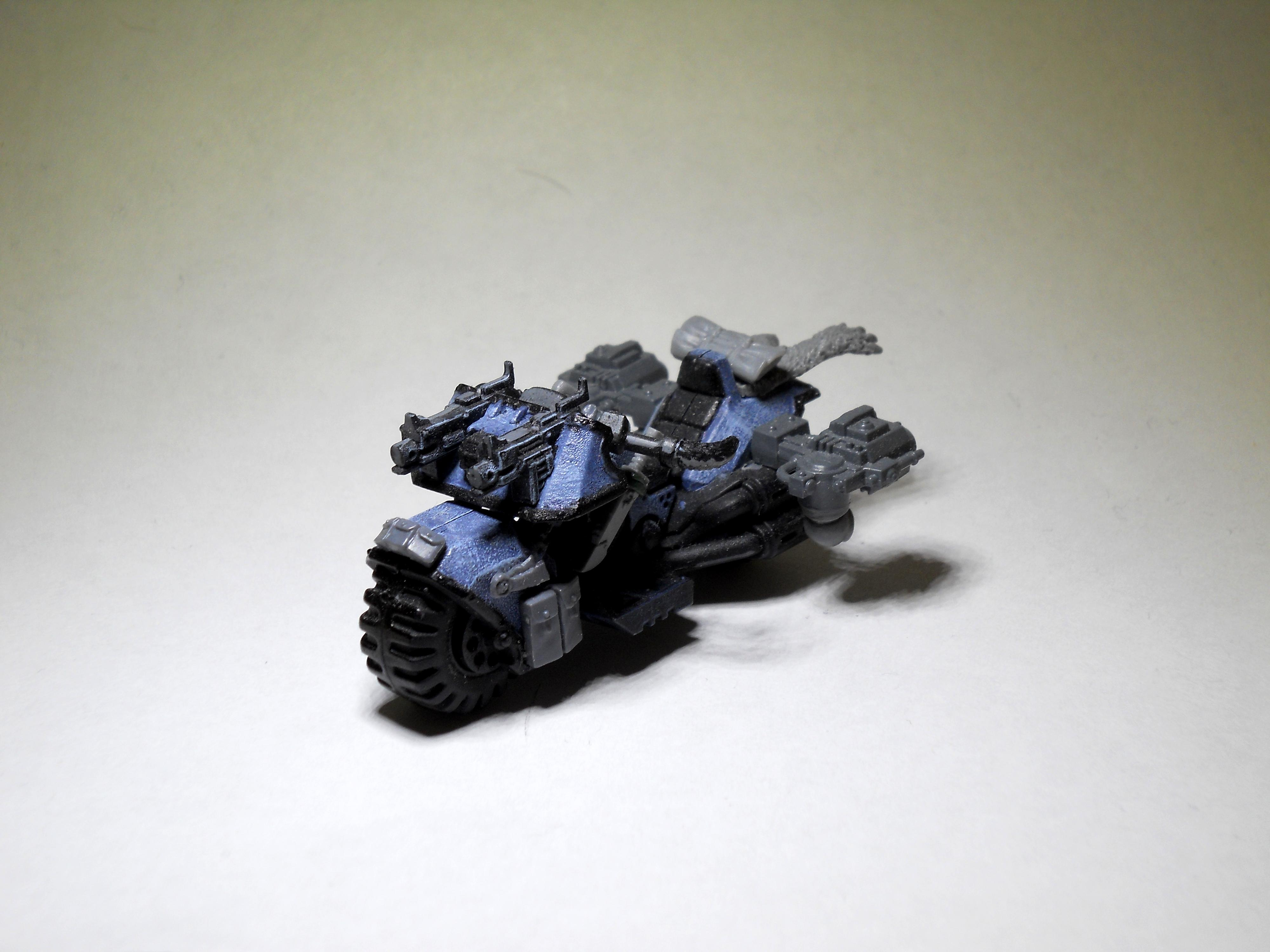 Bike, Conversion, Power Fist, Space Marines, Space Wolves