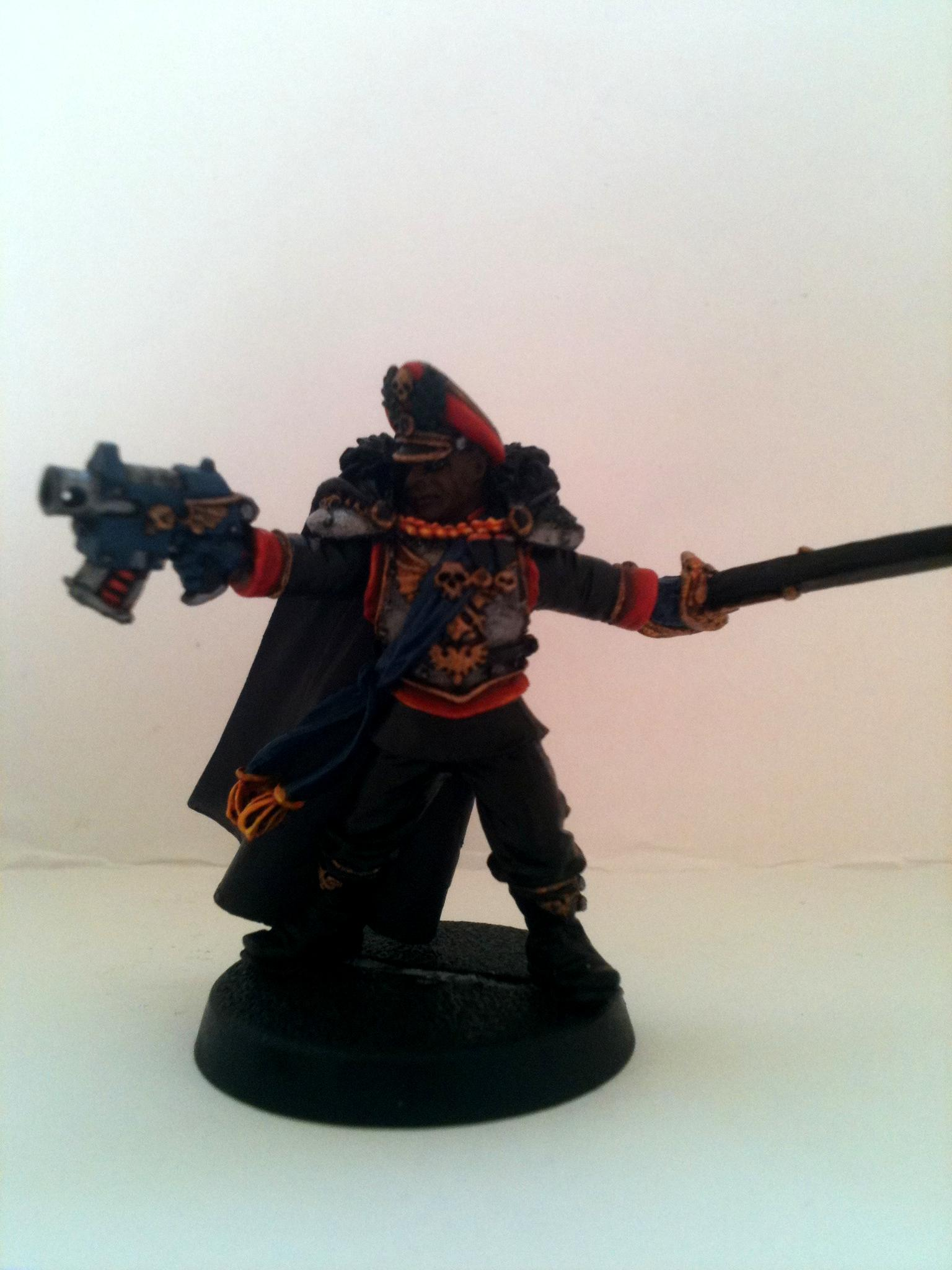 Commissar, Finecast, Imperial Guard, Warhammer 40,000, Work In Progress