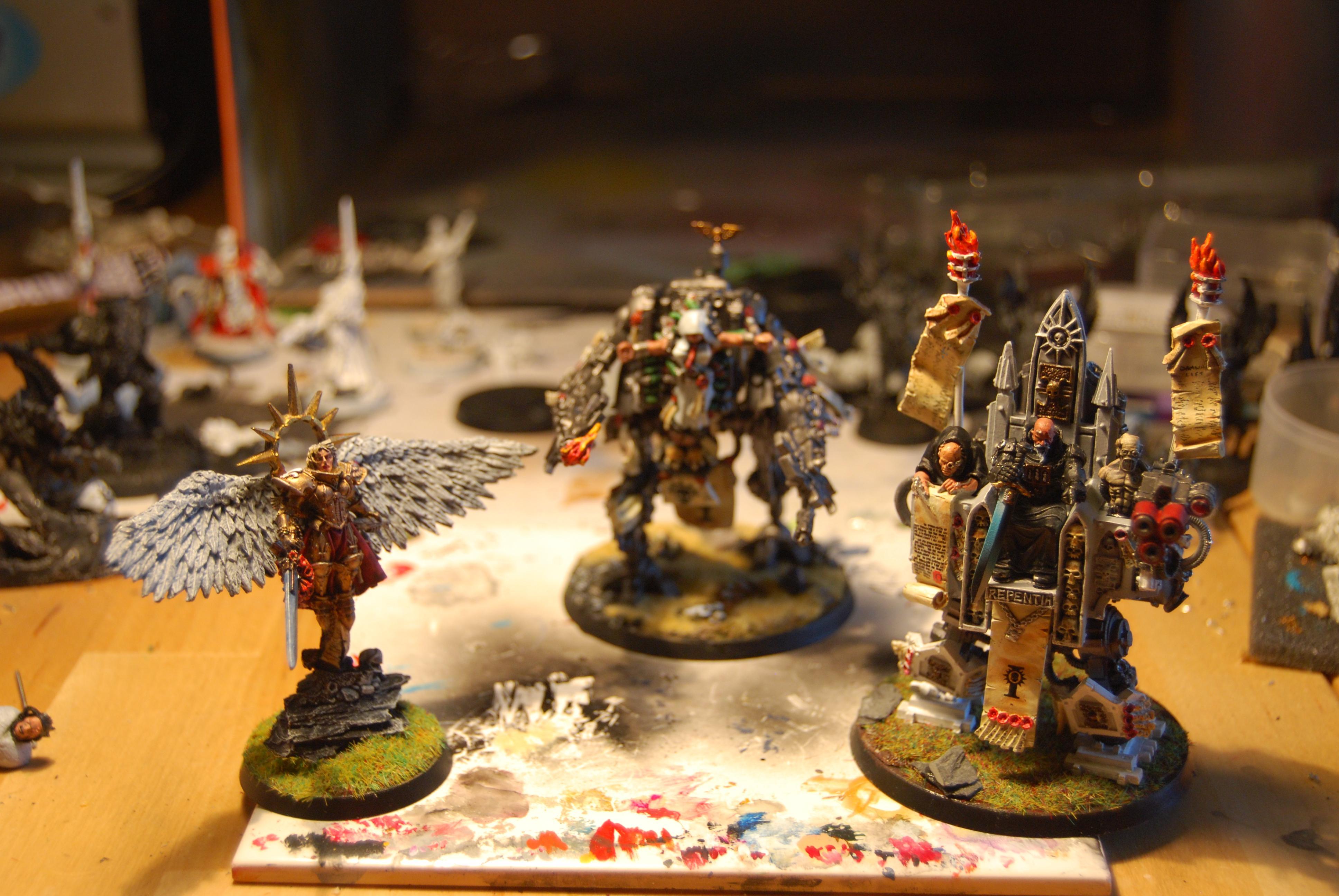 Inquisition, Karamazov, Living Saint, Pentinent Machine, Saint Celestine, Sisters Of Battle, Walking Throne, Warhammer 40,000, Witch Hunters