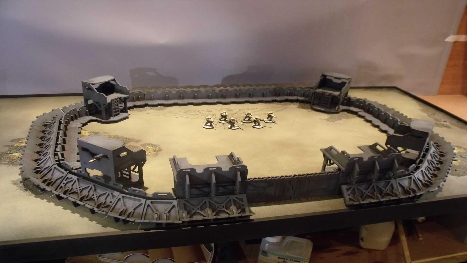 Fortress, Terrain, Trench, Warmill