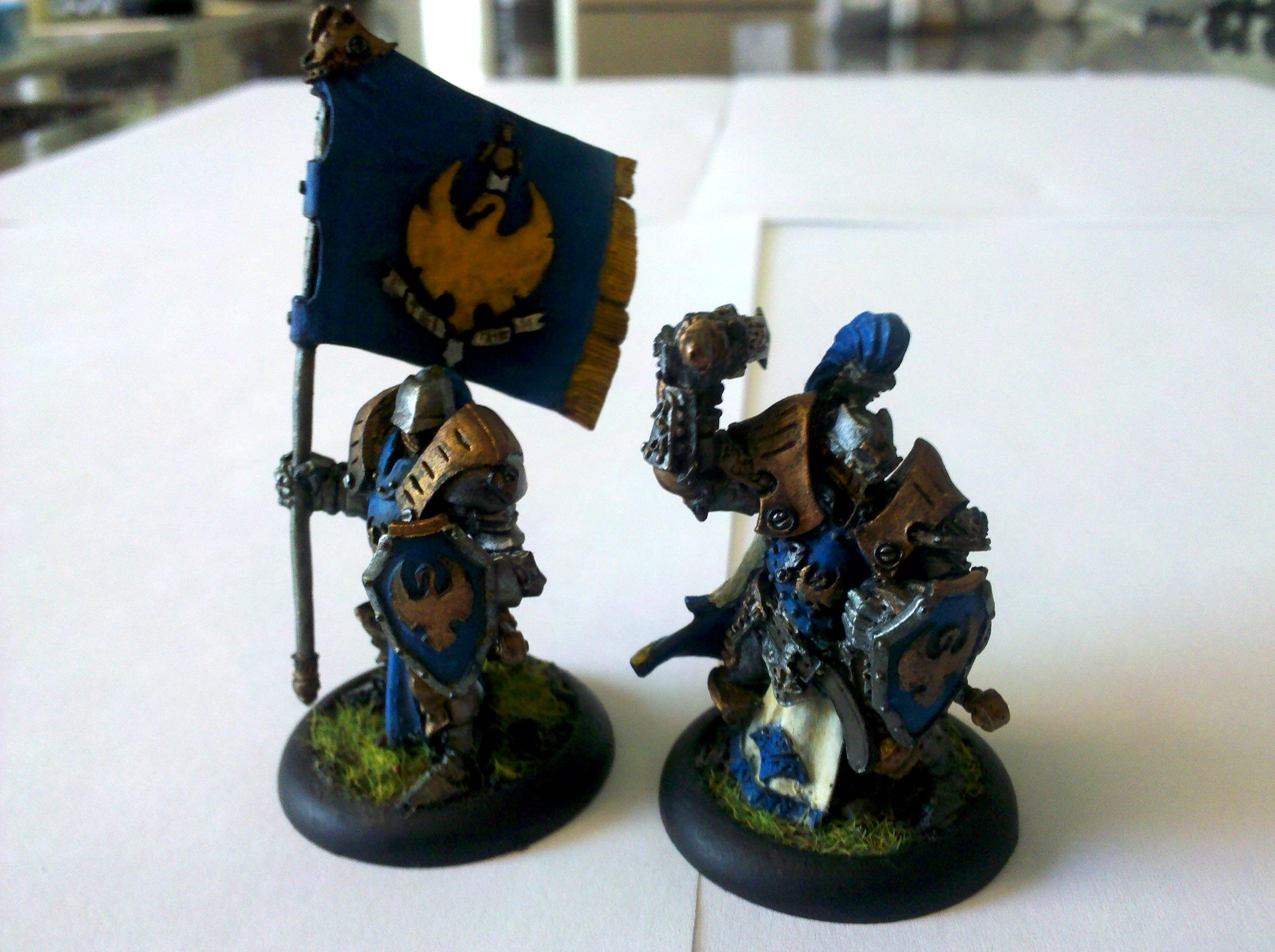 Cygnar, Warmachine, Sword Knights Officer and Standard