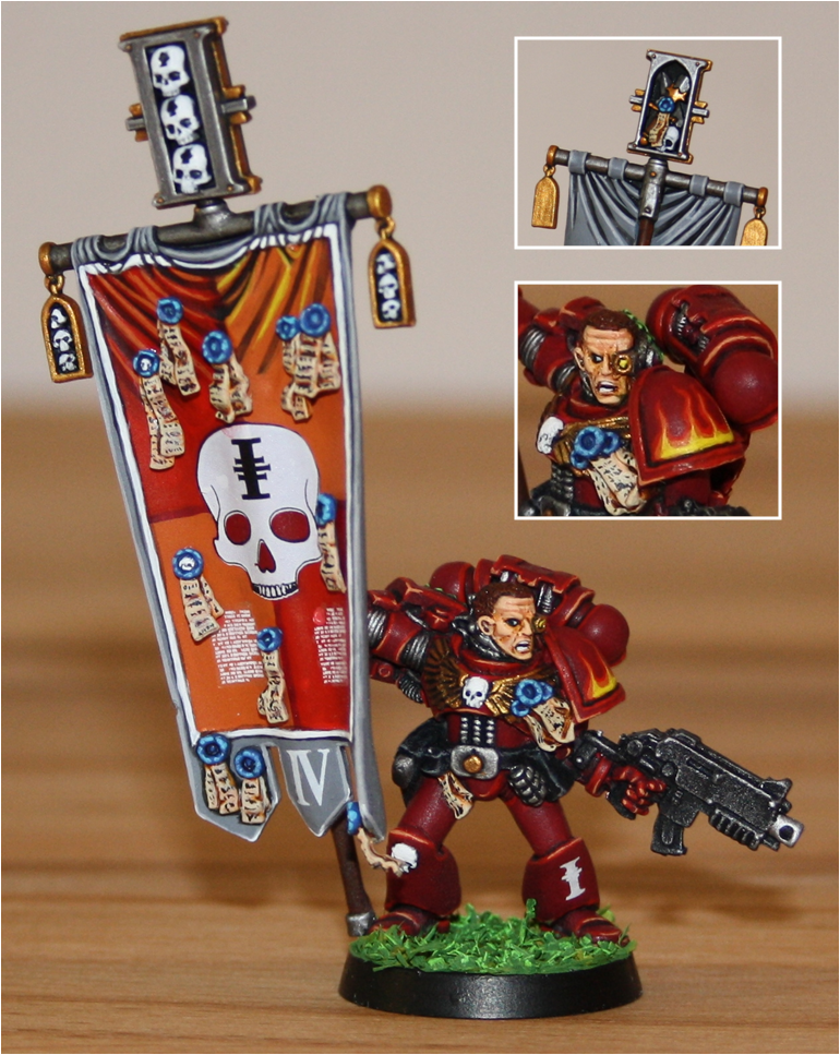 Banner, Inquisition, Red Hunters, Space Marines