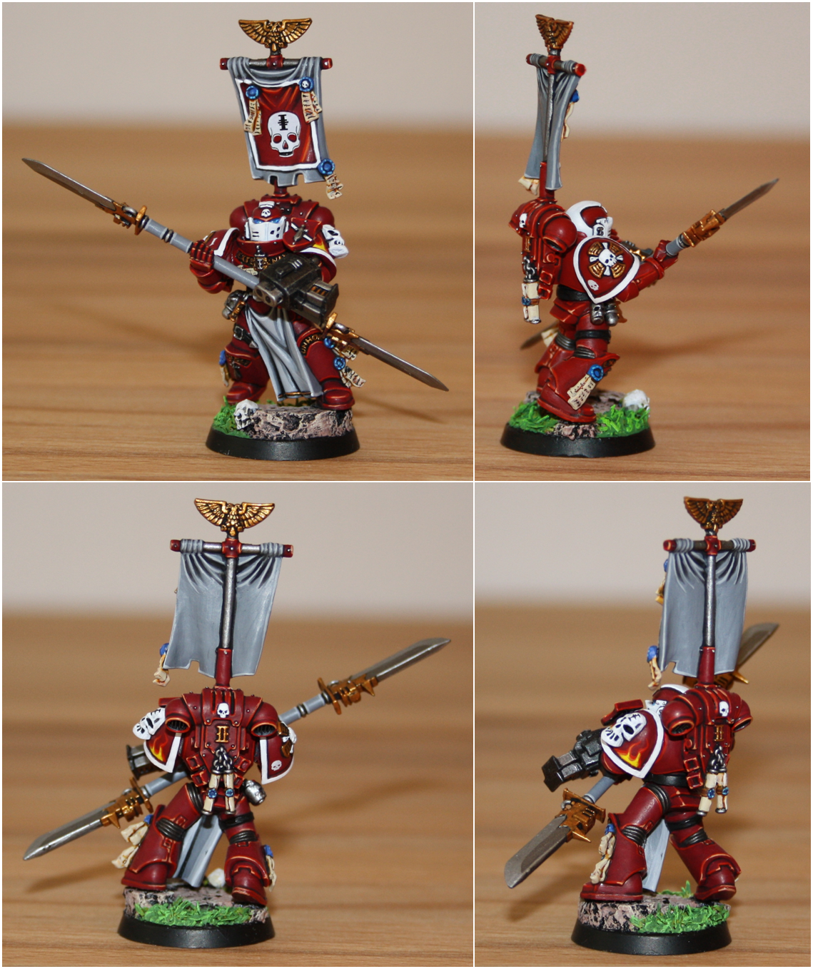 Halberd, Red Hunters, Sergeant, Space Marines, Veteran