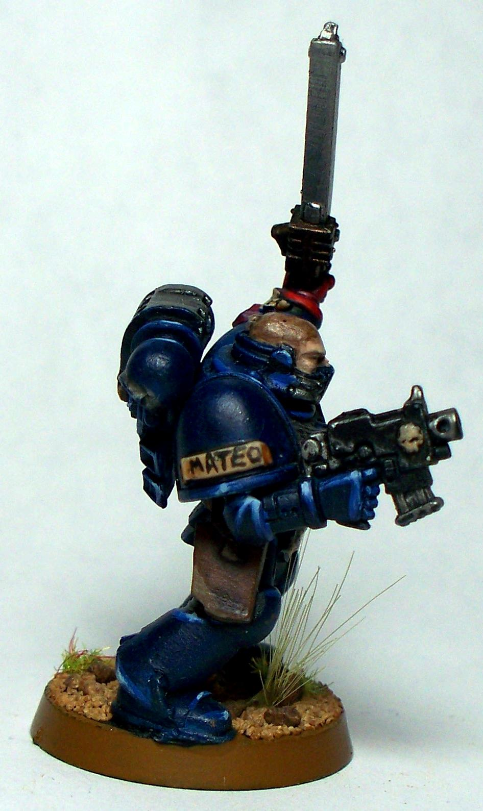 Crimson Fists, Sergeant, Space Marines, Warhammer 40,000