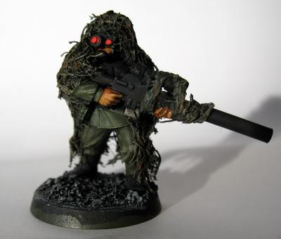 Snipers, Cadian sniper in ghilie suit