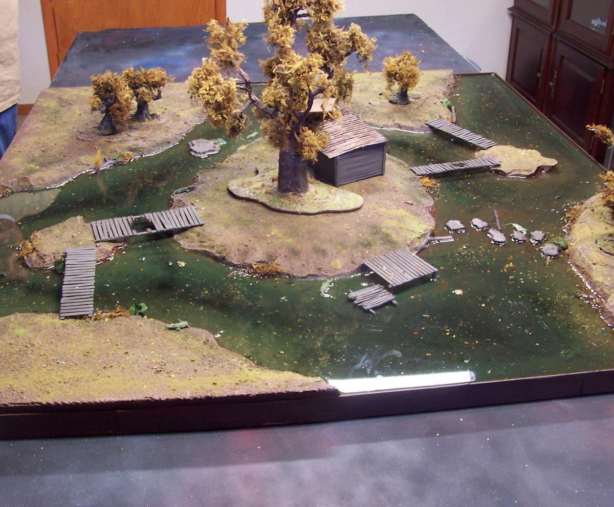 Game Table, River, Stream, Swamp, Terrian