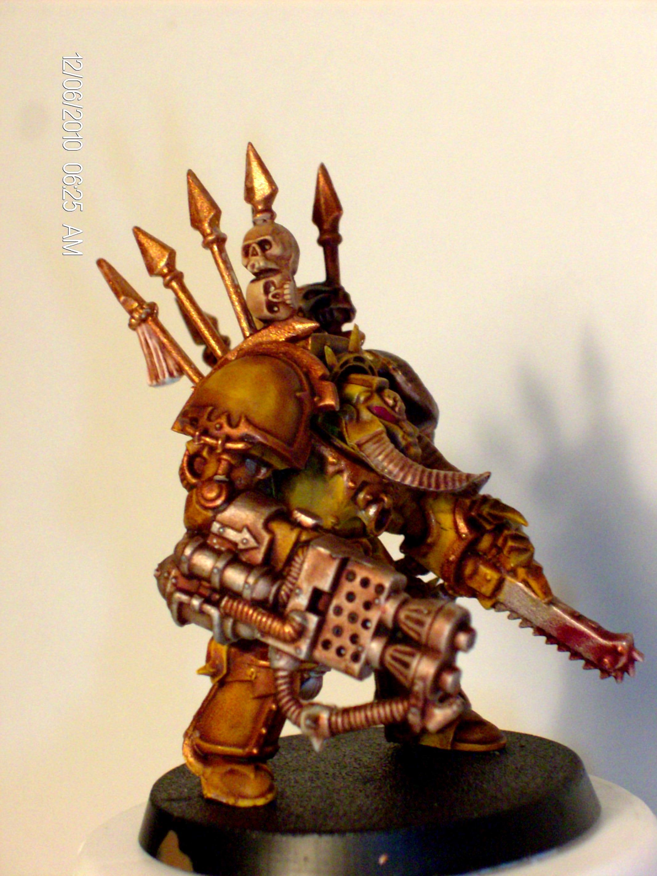 Chainfist, Chaos Space Marines, Heavy Flamer, Terminator Armor
