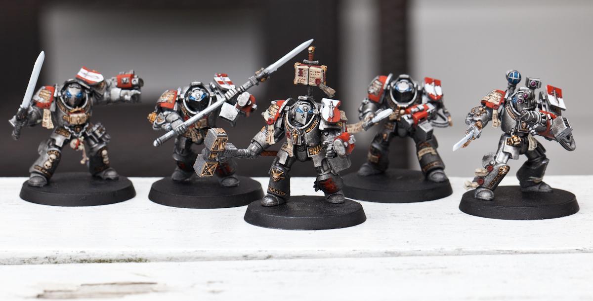 Grey Knights, WIP - Grey Knight Terminator Squad