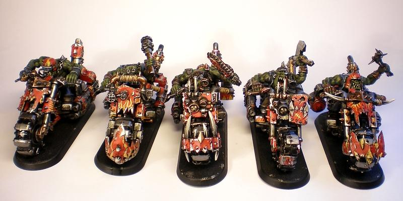 40.000, Armour Chipping, Battle Brush Studios, Biker Nobz, Commission Painting, Conversion, Evil Suns, Forge World, Nob, Orks, Shoota Boys, Sigur, Speed Freaks, Trukk, Warbikers, Warboss, Warhammer 40,000, Weathered