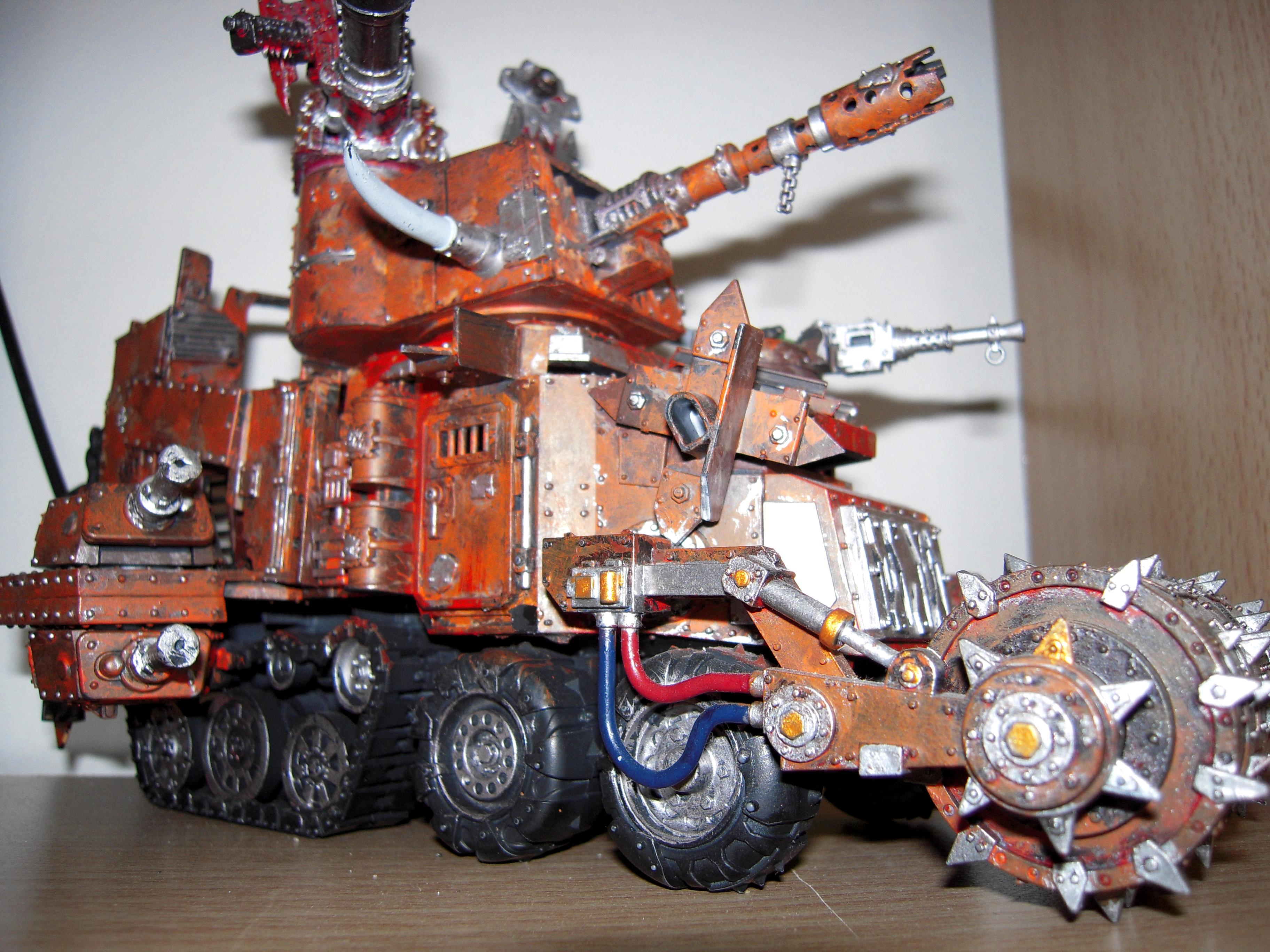Battle, Big, Conversion, Deff, Fortress, Giant, Huge, Kannon, Large, Looted, Open Top, Orks, Rolla, Tank, Wagon