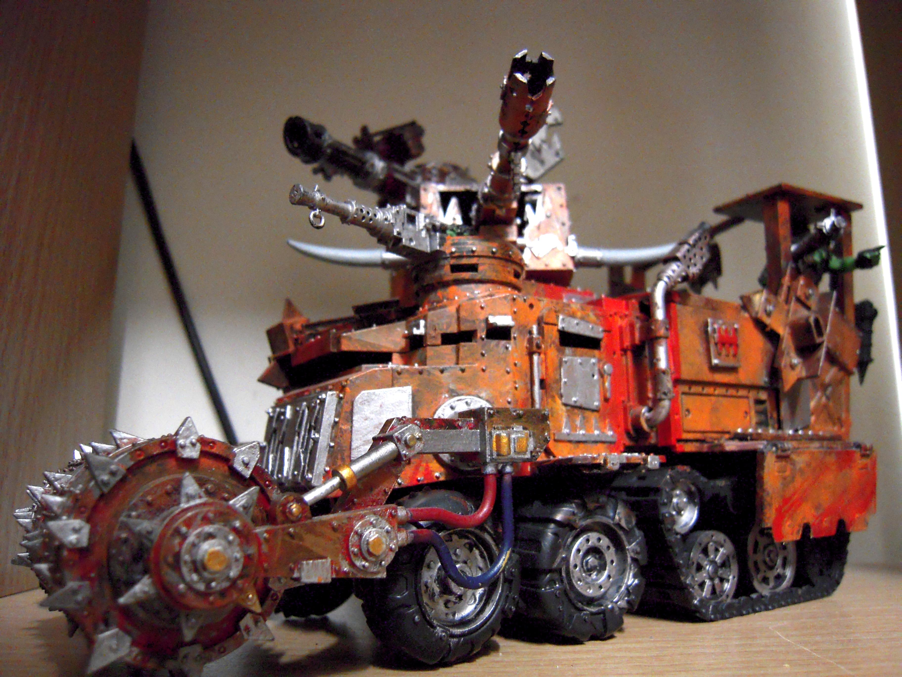 Armor, Battle, Battlewagon, Big, Conversion, Deff, Deff Rolla, Deth Rolla, Fortress, Giant, Grot Rigger, Grot Riggers, Huge, Kannon, Large, Loot, Looted, Open Top, Orks, Rolla, Scratch Build, Shoota, Sponsons, Tank, Turret, Turrets, Vehicle, Wagon