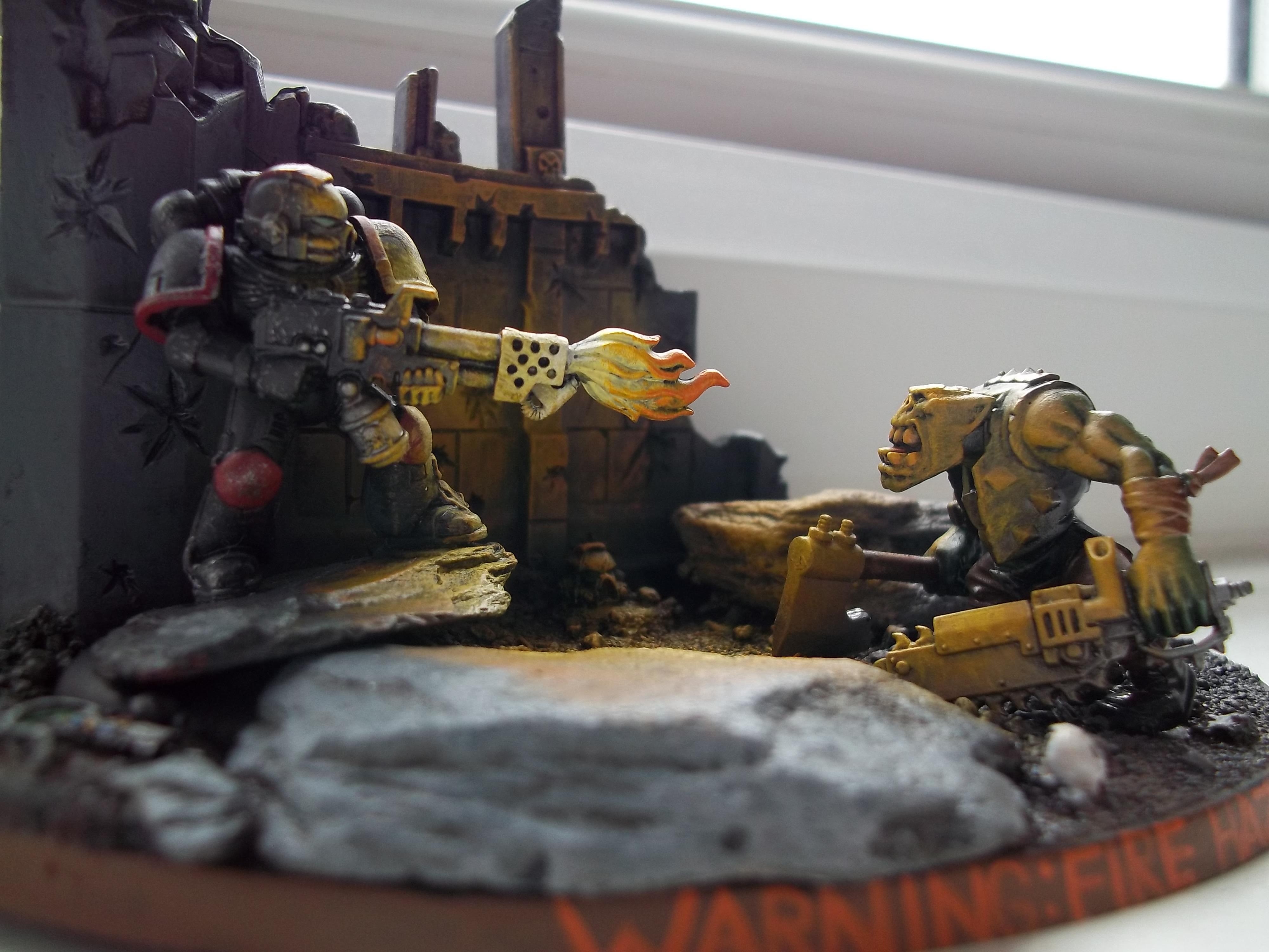 Lighting, Orks, Space Marines, Warhammer 40,000
