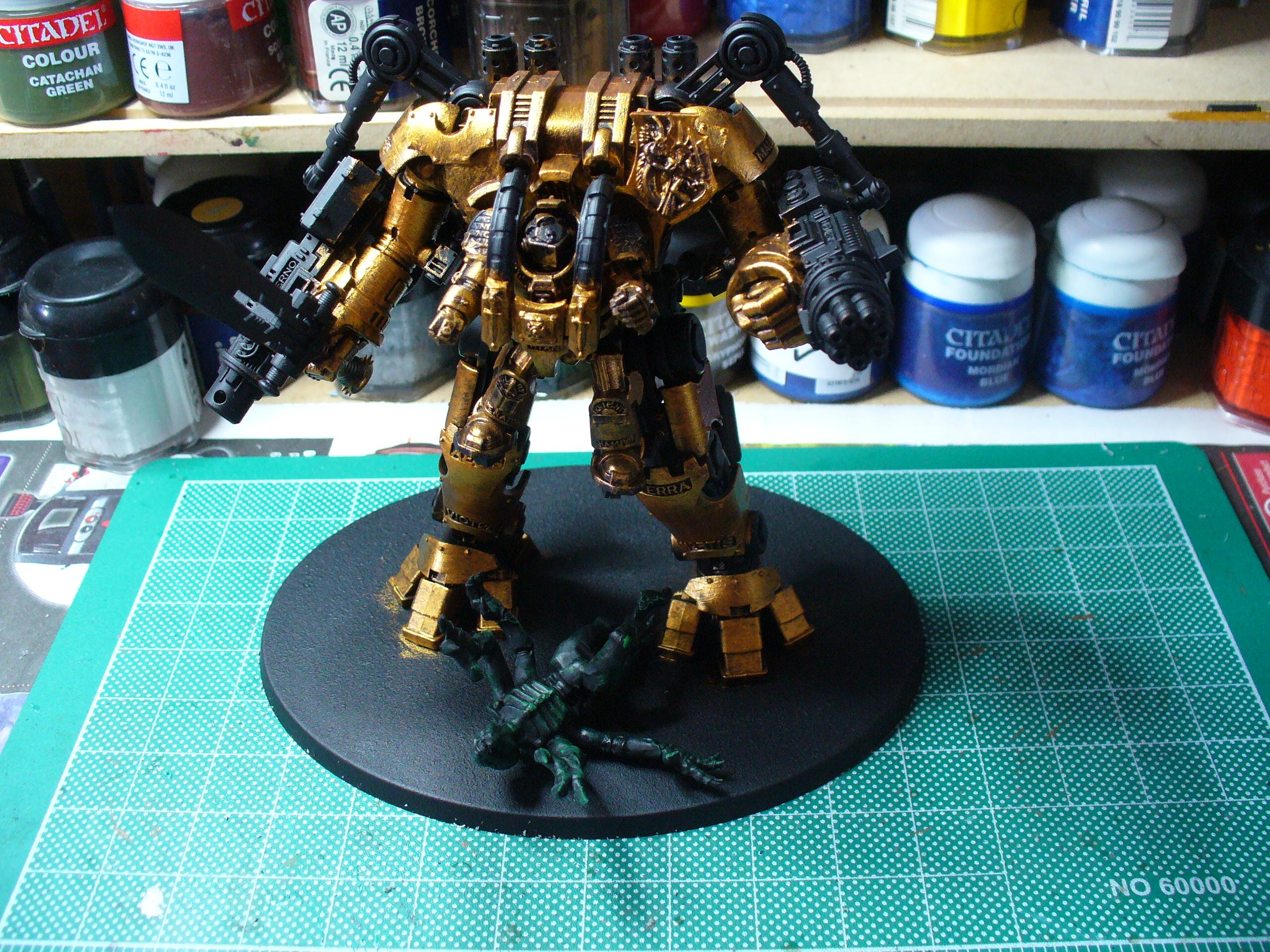 WIP after shining gold was applied after the tin bitz