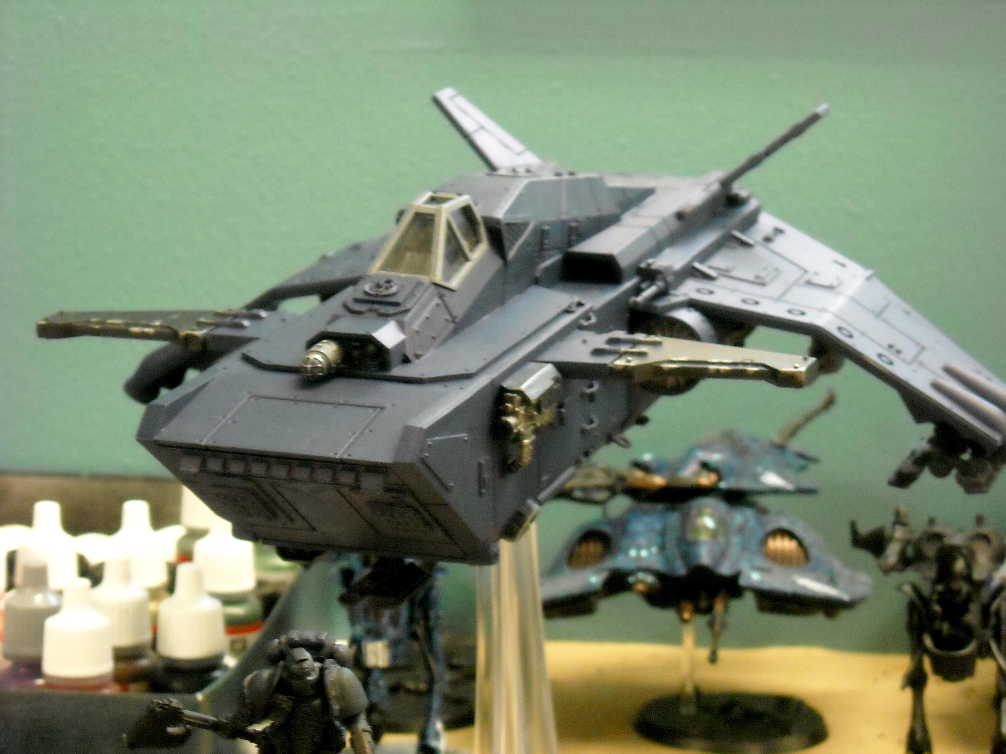 Chaos, Dark Mechanicum, Flyer, Gunship, Mechanicus, Stormraven, Valkyrie