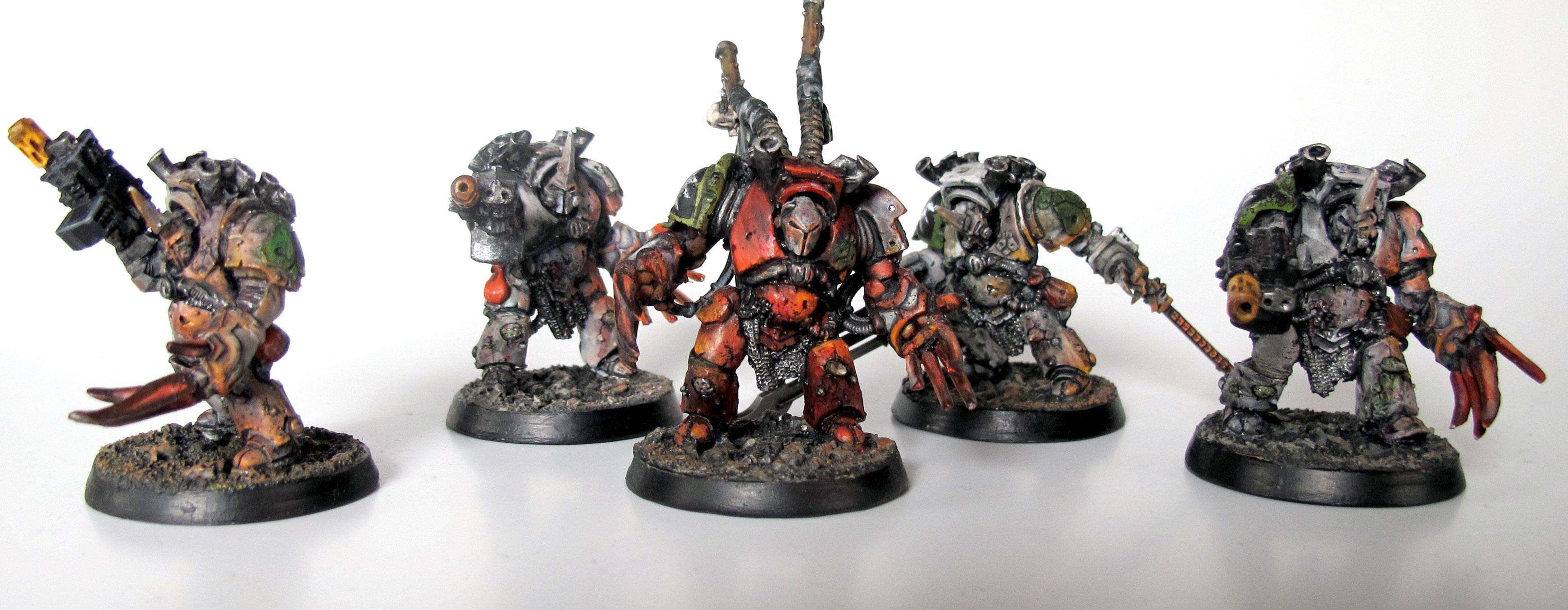 Cast, Champion, Chaos Space Marines, Chaos Terminators, Chosen, Death Guard, Lightning Claws, Resin