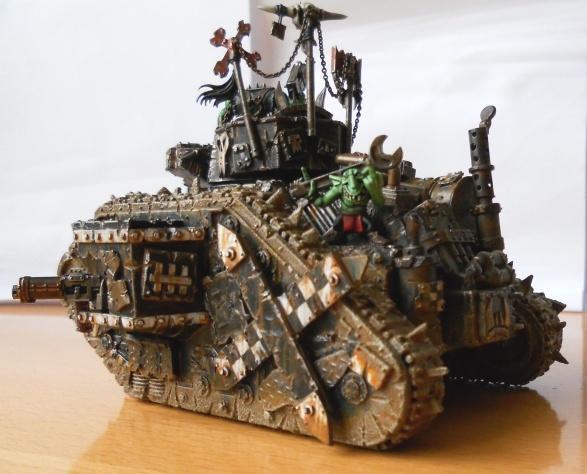 Conversion, Gretchin, Grots, Leman Russ, Looted Wagon, Orks, Warhammer 40,000
