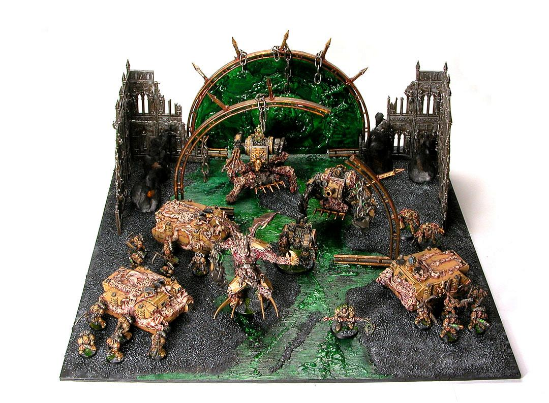 Army, Chaos Space Marines, Death Guard, Defiler, Plague Marines, Rhino