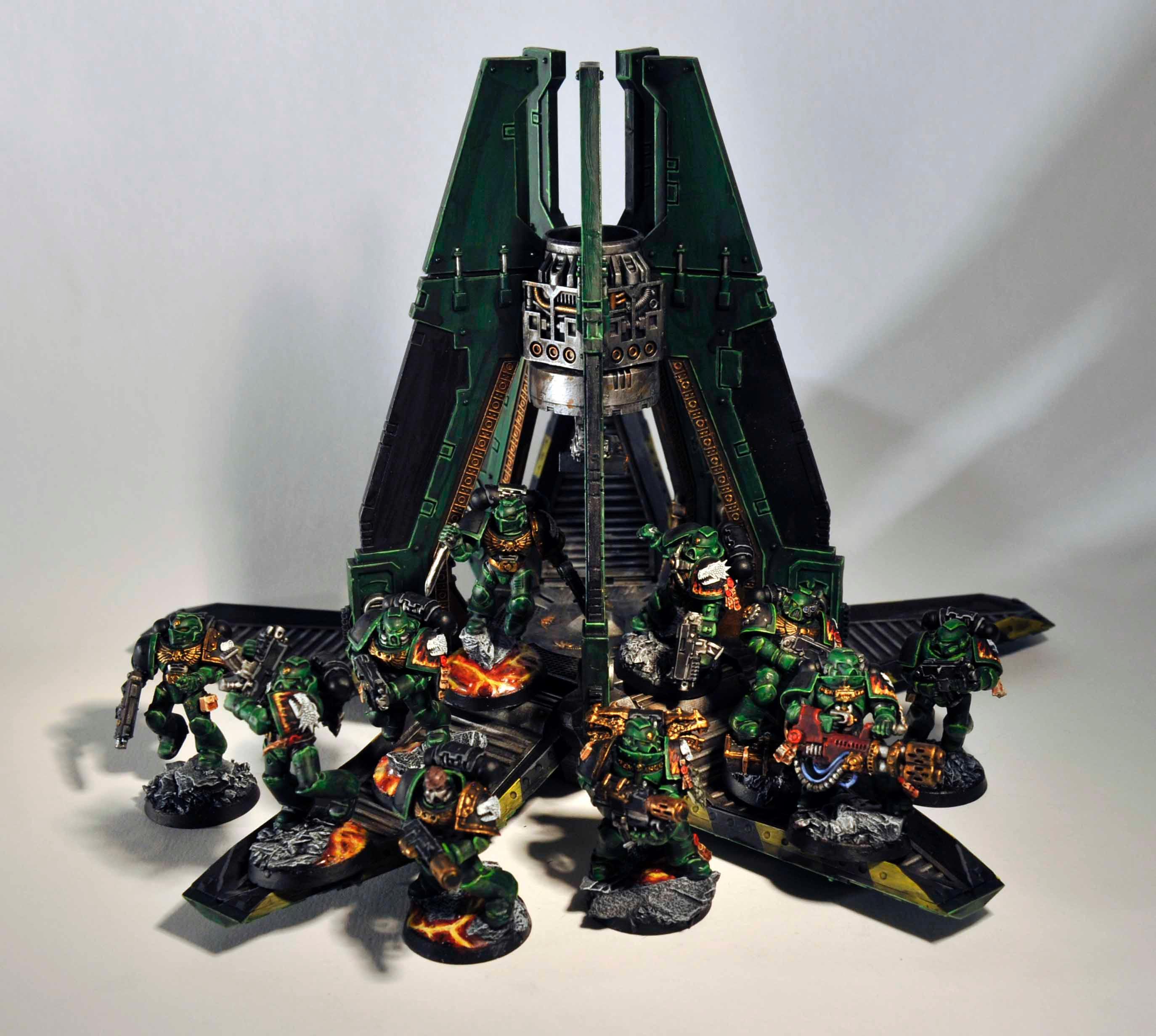 Army, Drop Pod, Salamanders, Tactical Squad, Vulkan